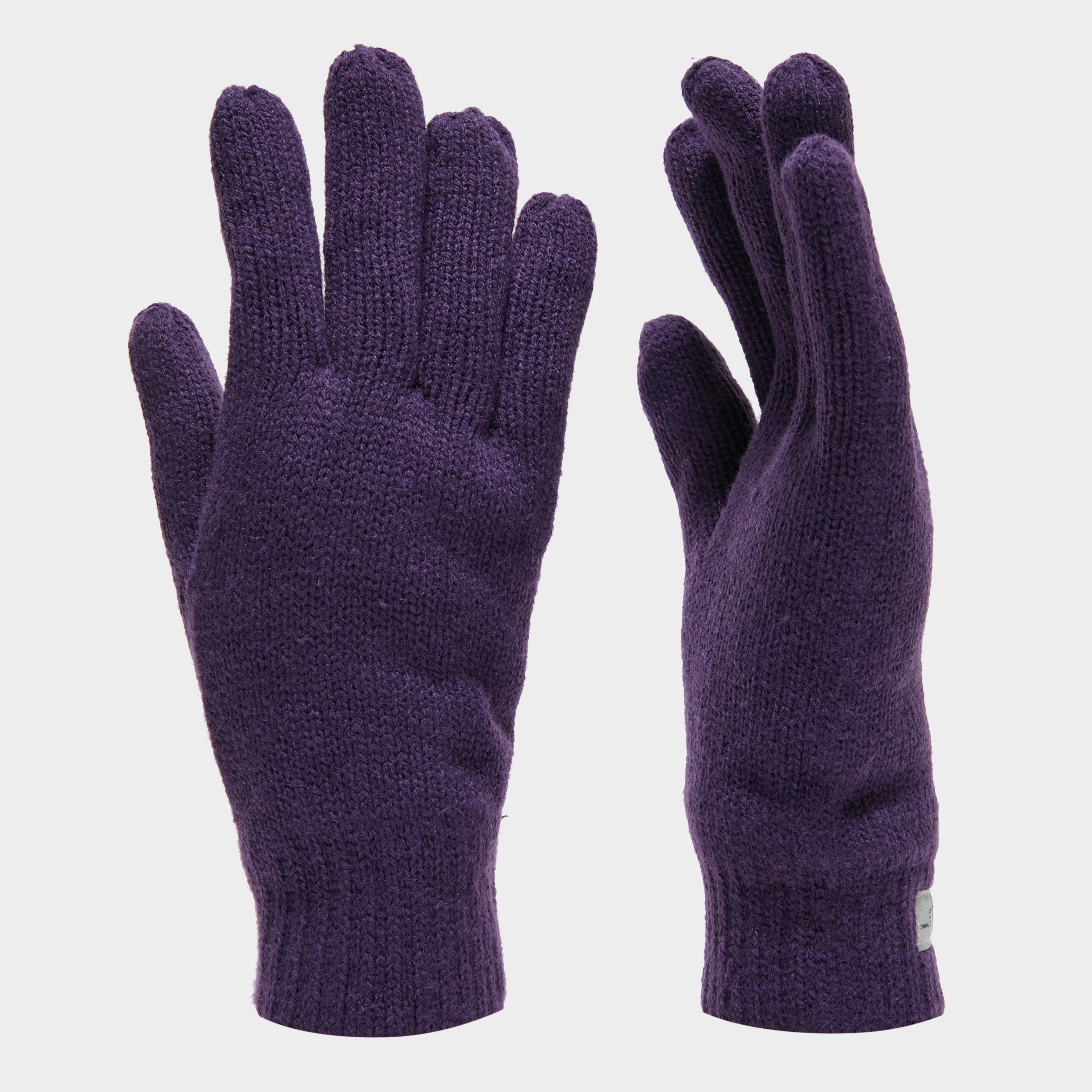Peter Storm Thinsulate Knit Fleece Gloves - Purple, Purple