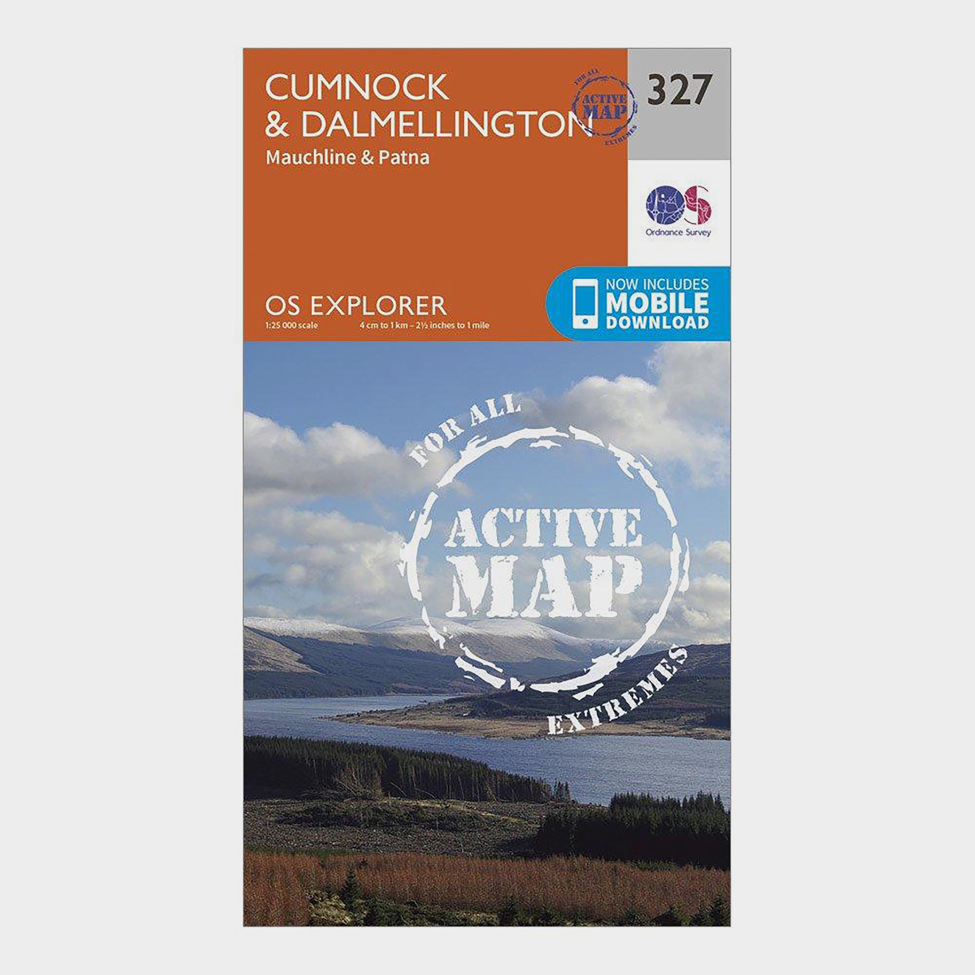 Ordnance Survey Explorer Active 327 CumnockandDalmellington Map With Digital Version - Orange/d  Orange/d