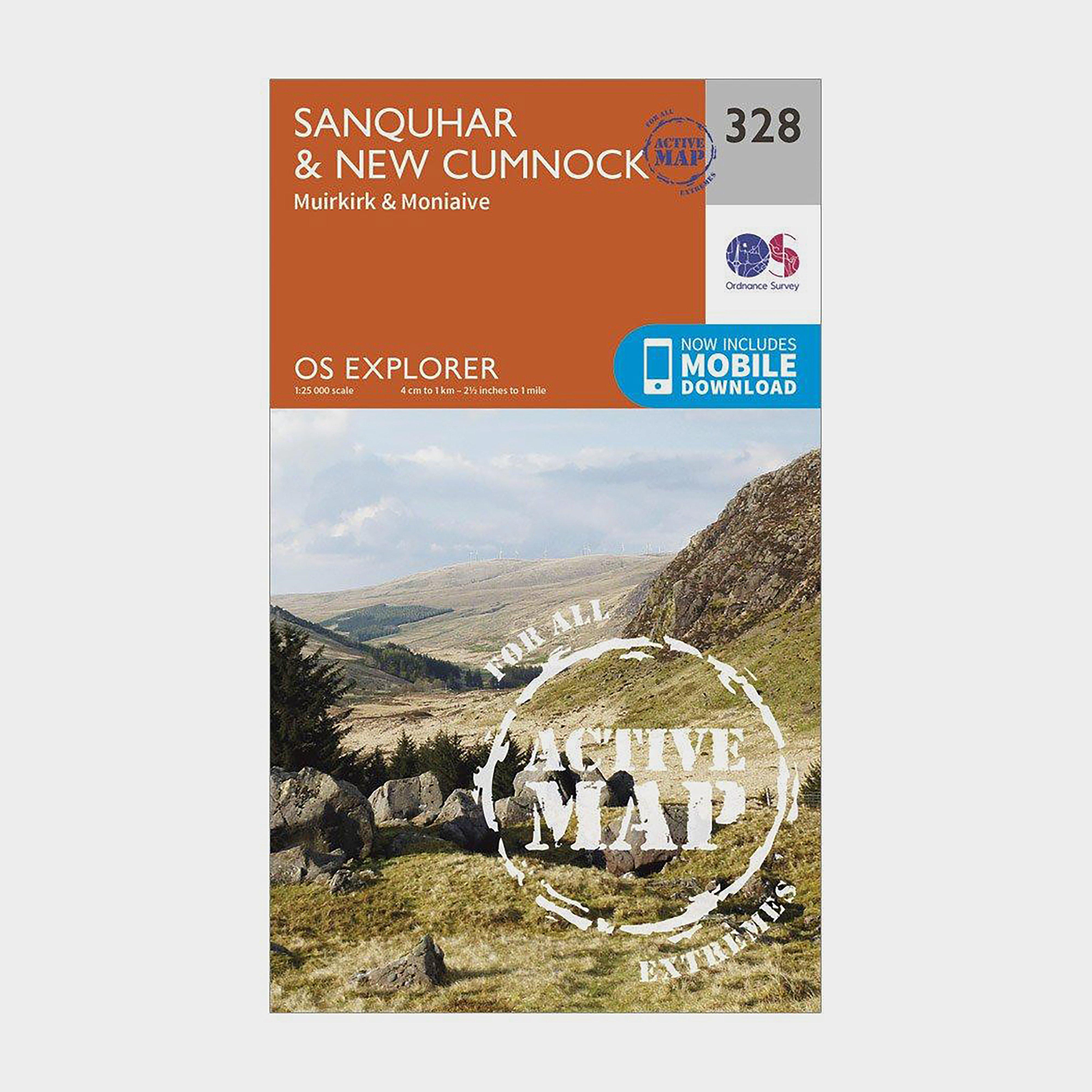 Ordnance Survey Explorer Active 328 Sanquhar & New Cumnock Map With Digital Version - Orange/D, Orange/D