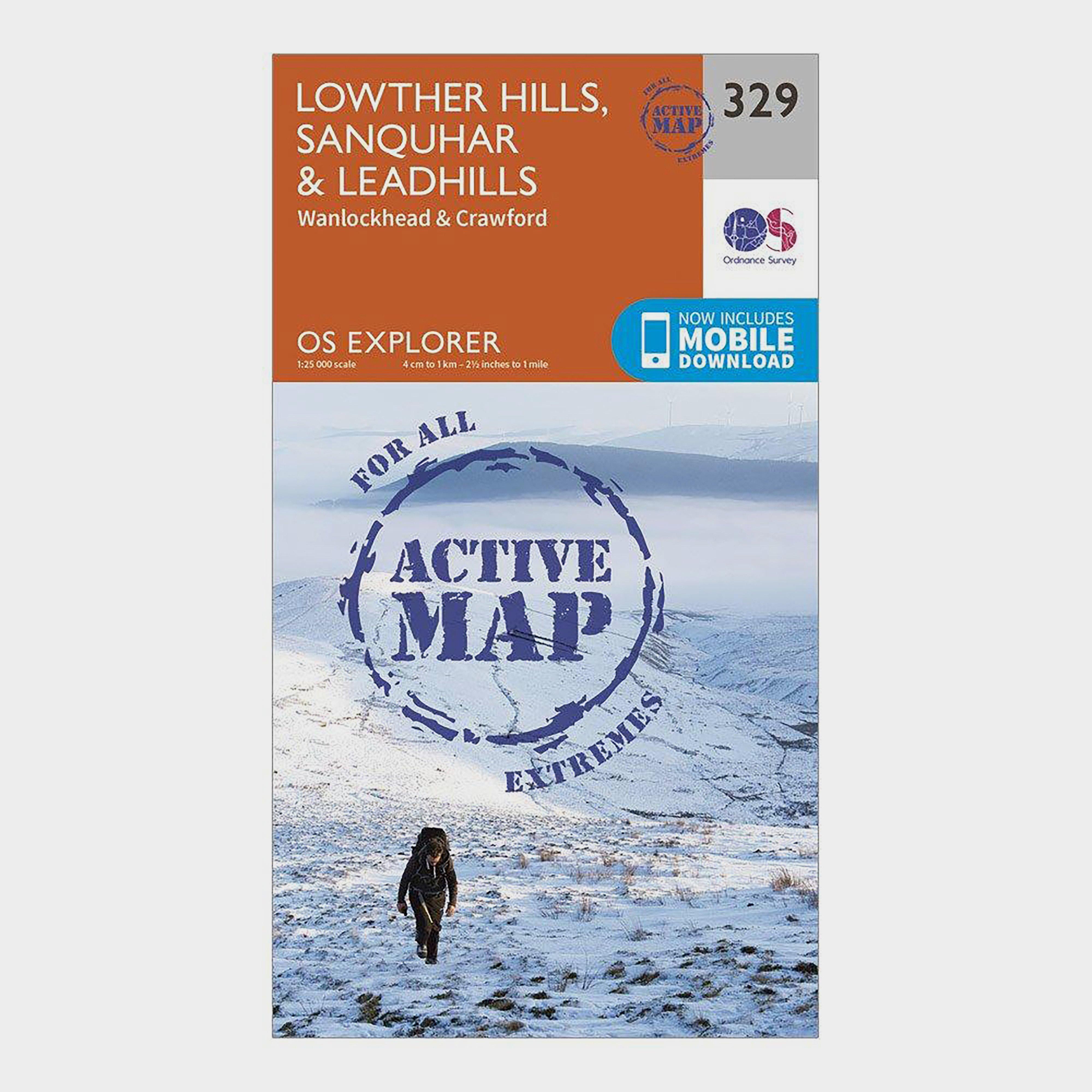 Ordnance Survey Explorer Active 329 Lowther Hills  SanquharandLeadhills Map With Digital Version - Orange/d  Orange/d