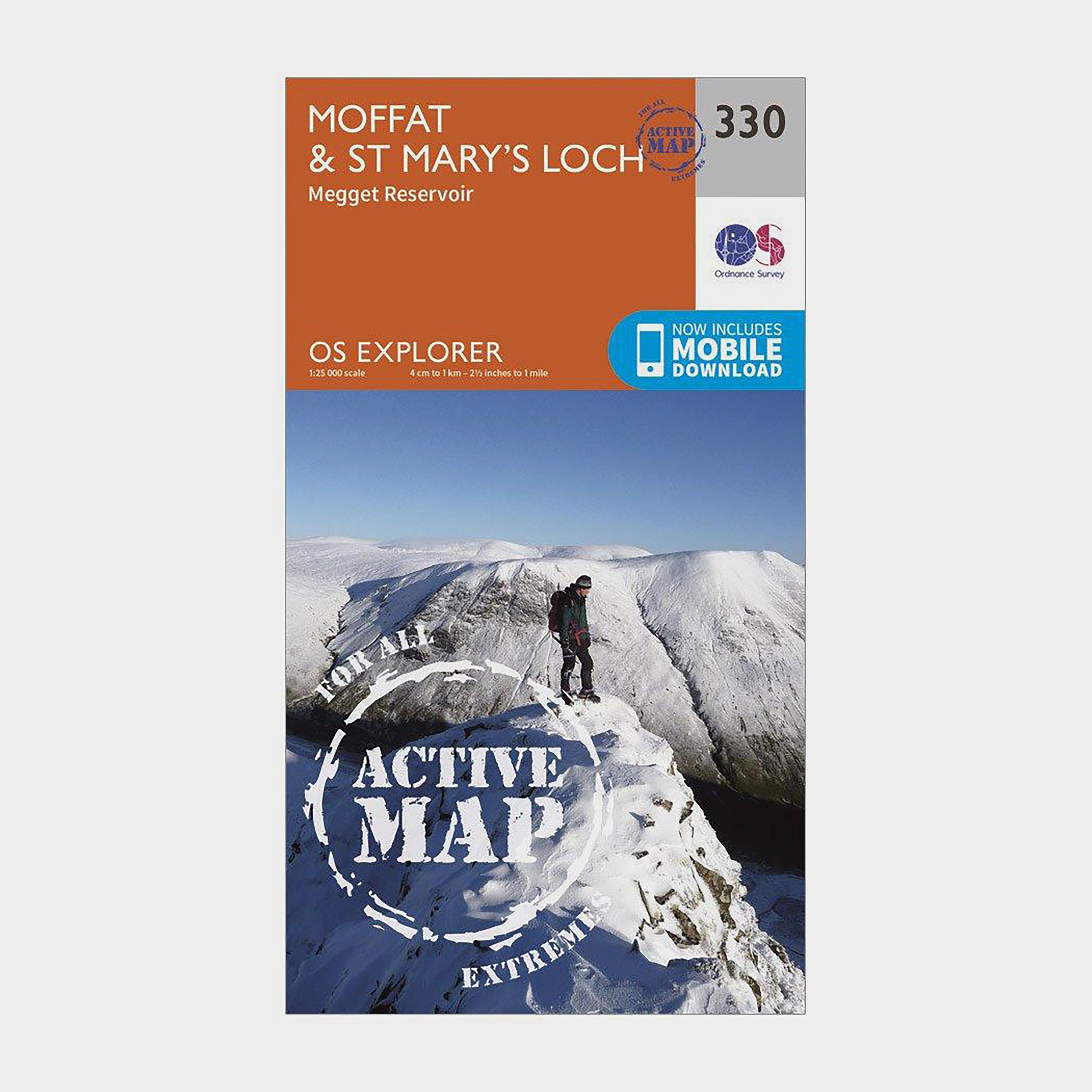 Ordnance Survey Explorer Active 330 MoffatandSt Marys Loch Map With Digital Version - Orange/d  Orange/d