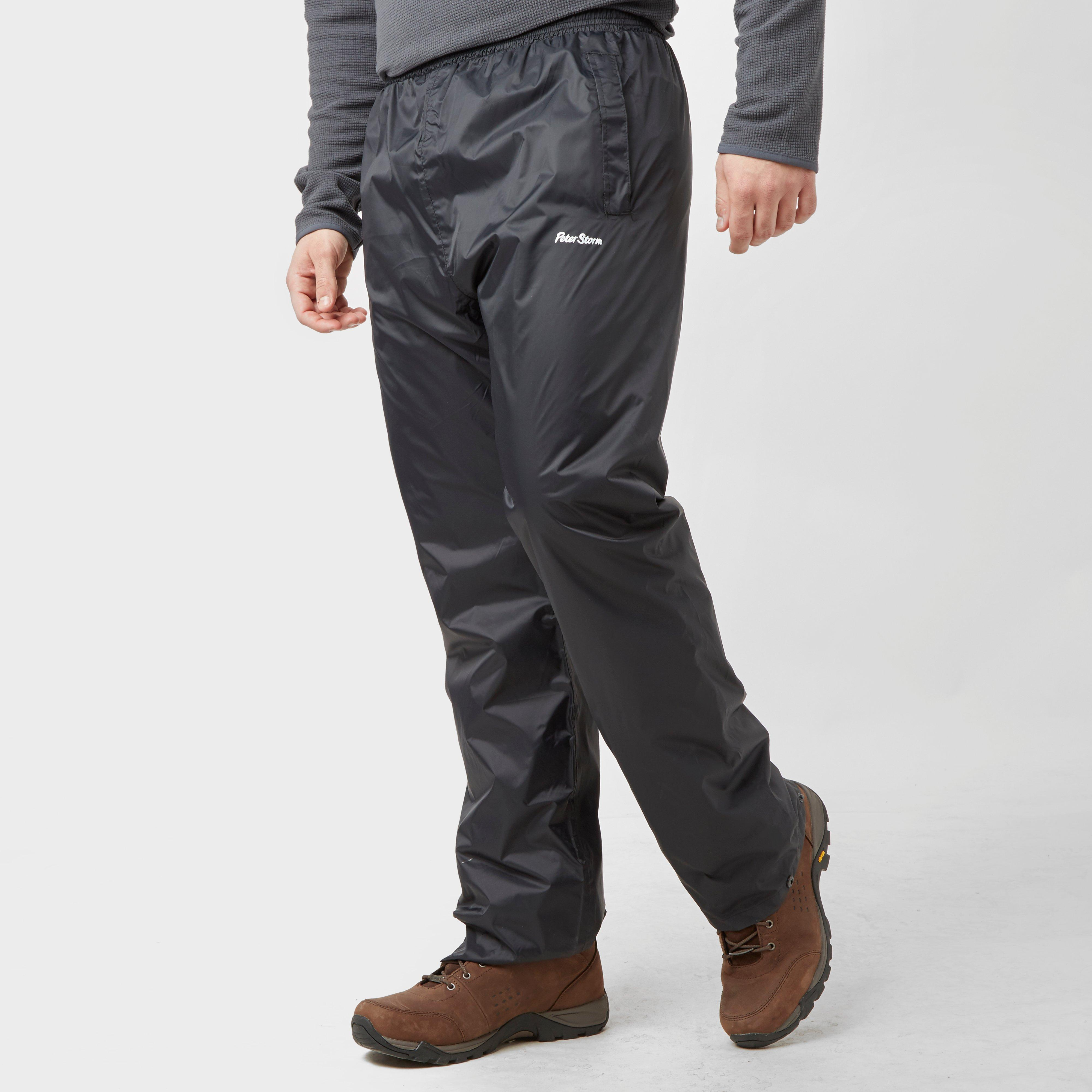 Peter Storm Mens Packable Pants Black