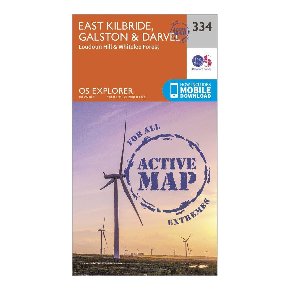 Ordnance Survey Explorer Active 334 East Kilbride  GalstonandDarvel Map With Digital Version - Orange/d  Orange/d