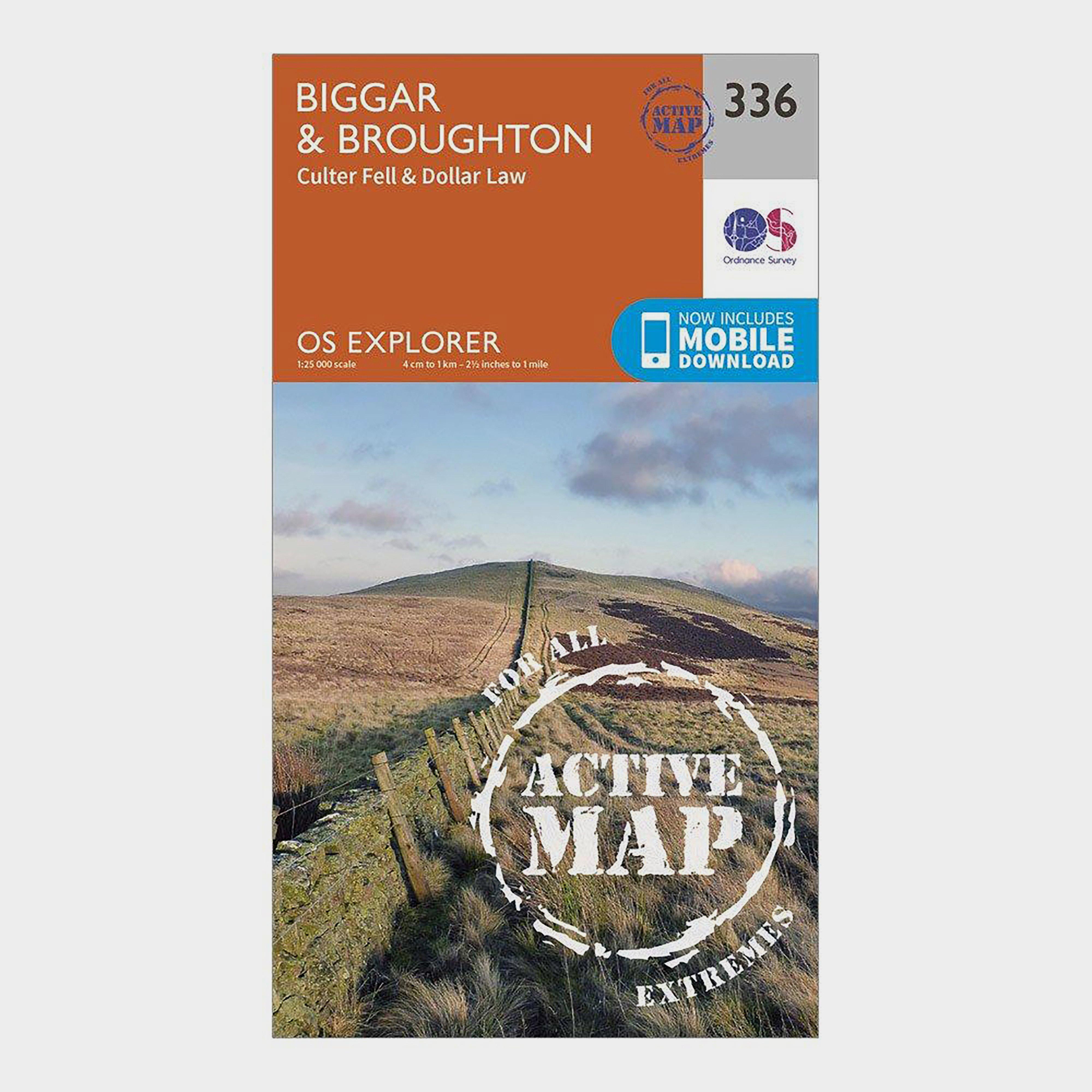 Ordnance Survey Explorer Active 336 BiggarandBroughton Map With Digital Version - D/d  D/d