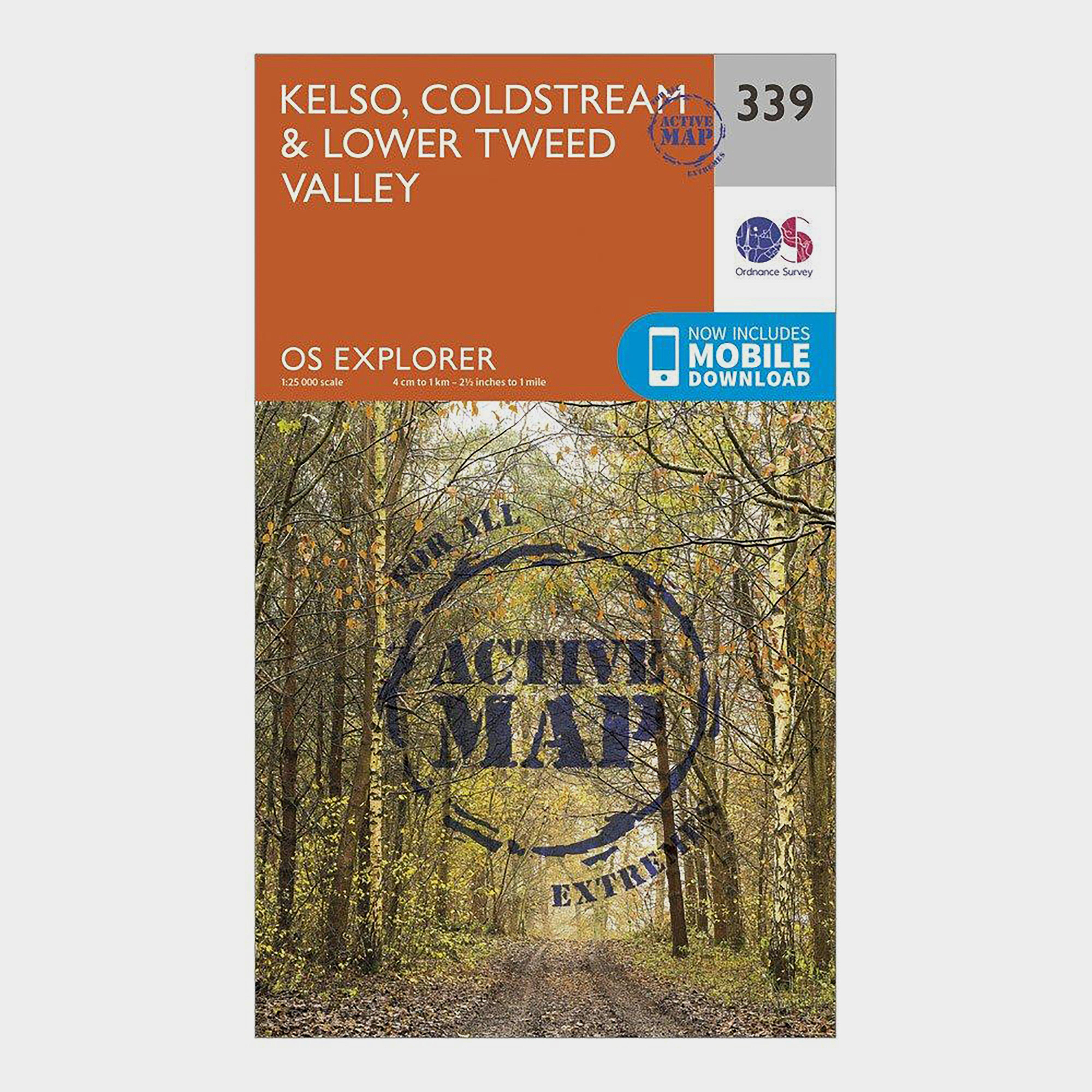Ordnance Survey Explorer Active 339 Kelso  ColdstreamandLower Tweed Valley Map With Digital Version - Orange/d  Orange/d