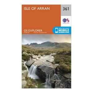 ORDNANCE SURVEY Explorer 361 Isle of Arran Map With Digital Version