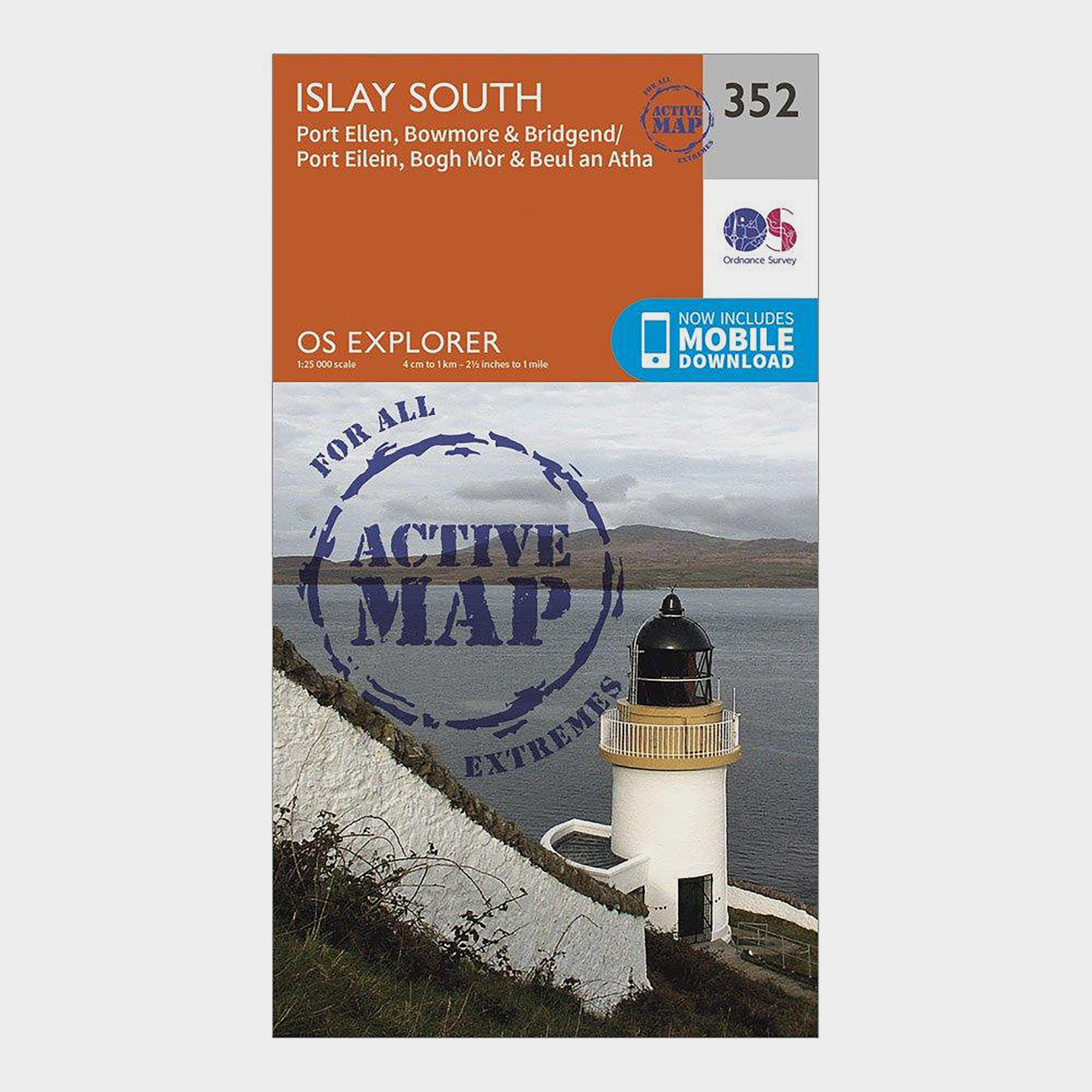 Ordnance Survey Explorer Active 352 Islay South Map With Digital Version - Orange/D, Orange/D