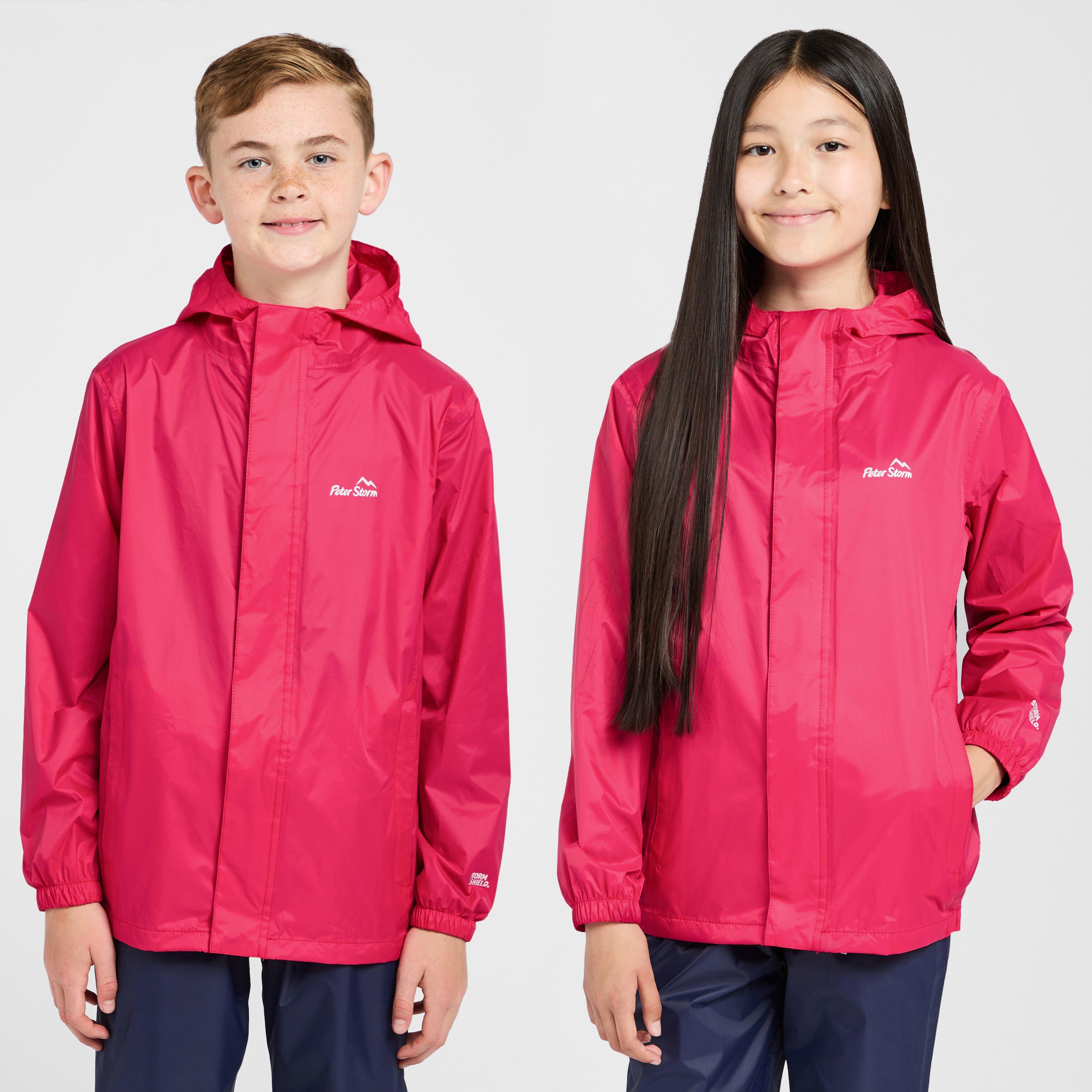 Peter Storm Kids Packable Patterned Waterproof Jacket - Pink/pink  Pink/pink