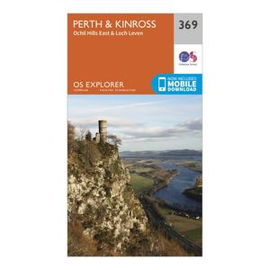 ORDNANCE SURVEY Explorer 369 Perth & Kinross Map With Digital Version