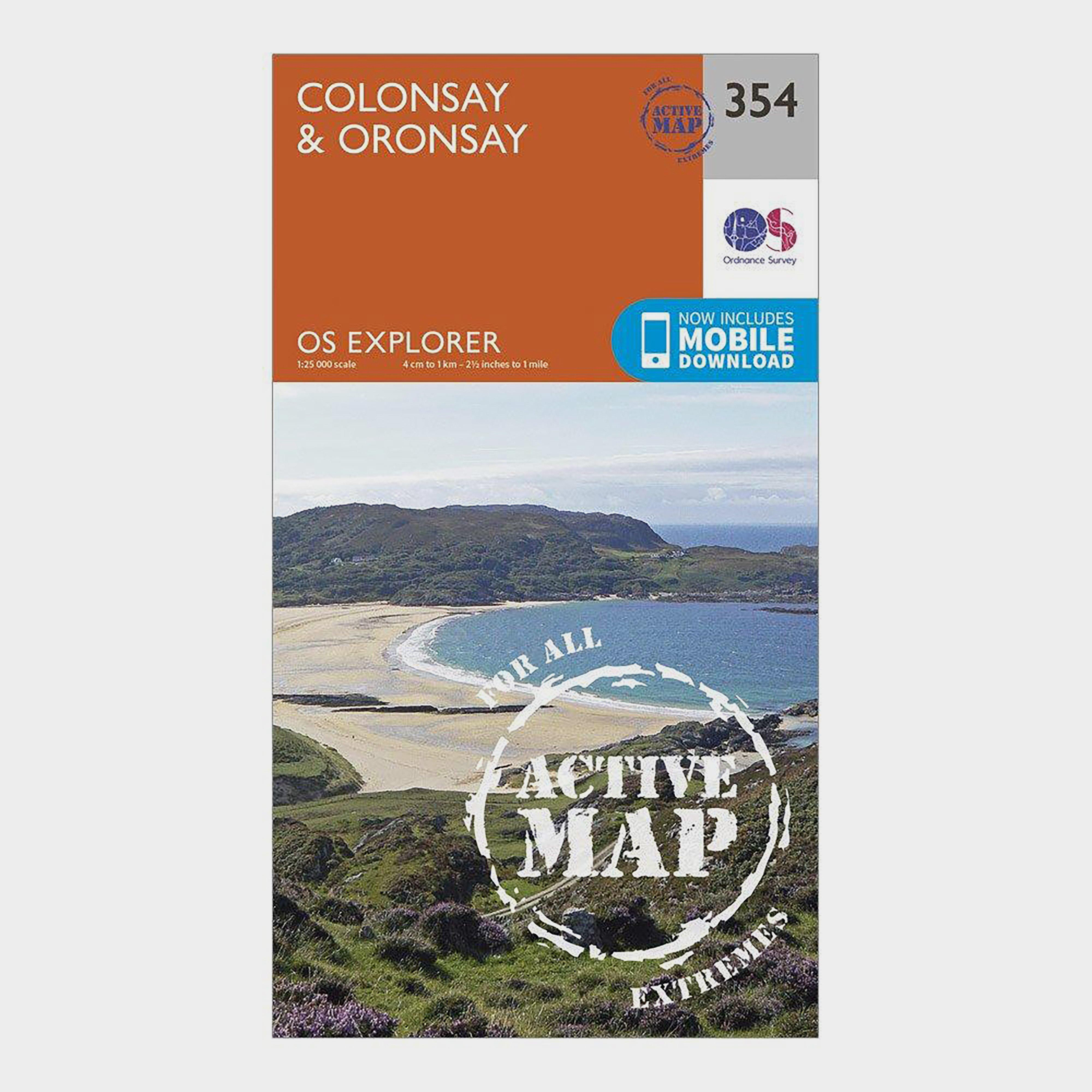 Ordnance Survey Explorer Active 354 ColonsayandOronsay Map With Digital Version - Orange/d  Orange/d