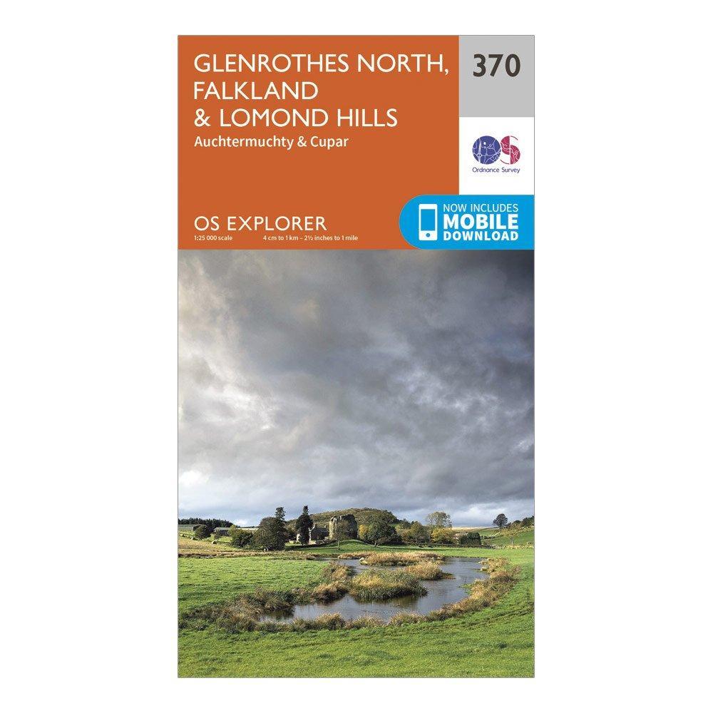 Ordnance Survey Explorer 370 Glenrothes North  FalklandandLomond Hills Map With Digital Version - Orange/d  Orange/d