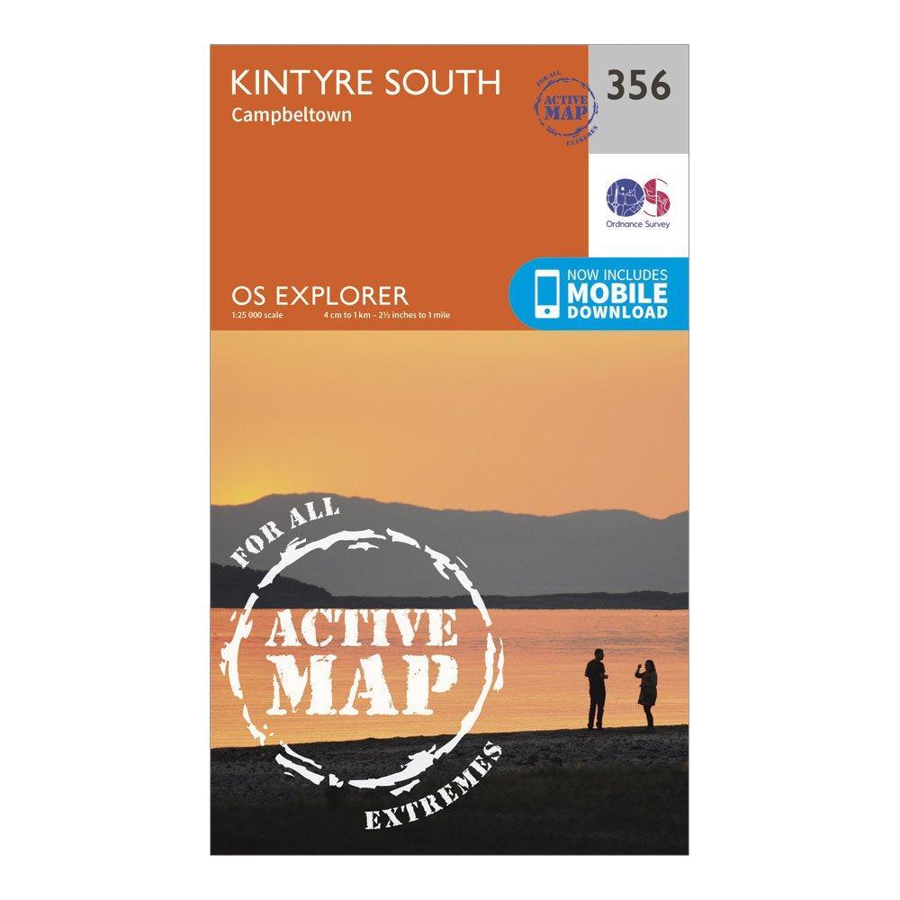 Ordnance Survey Explorer Active 356 Kintyre South Campeltown Map With Digital Version - Orange/d  Orange/d