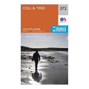 ORDNANCE SURVEY Explorer 372 Coll & Tiree Map With Digital Version