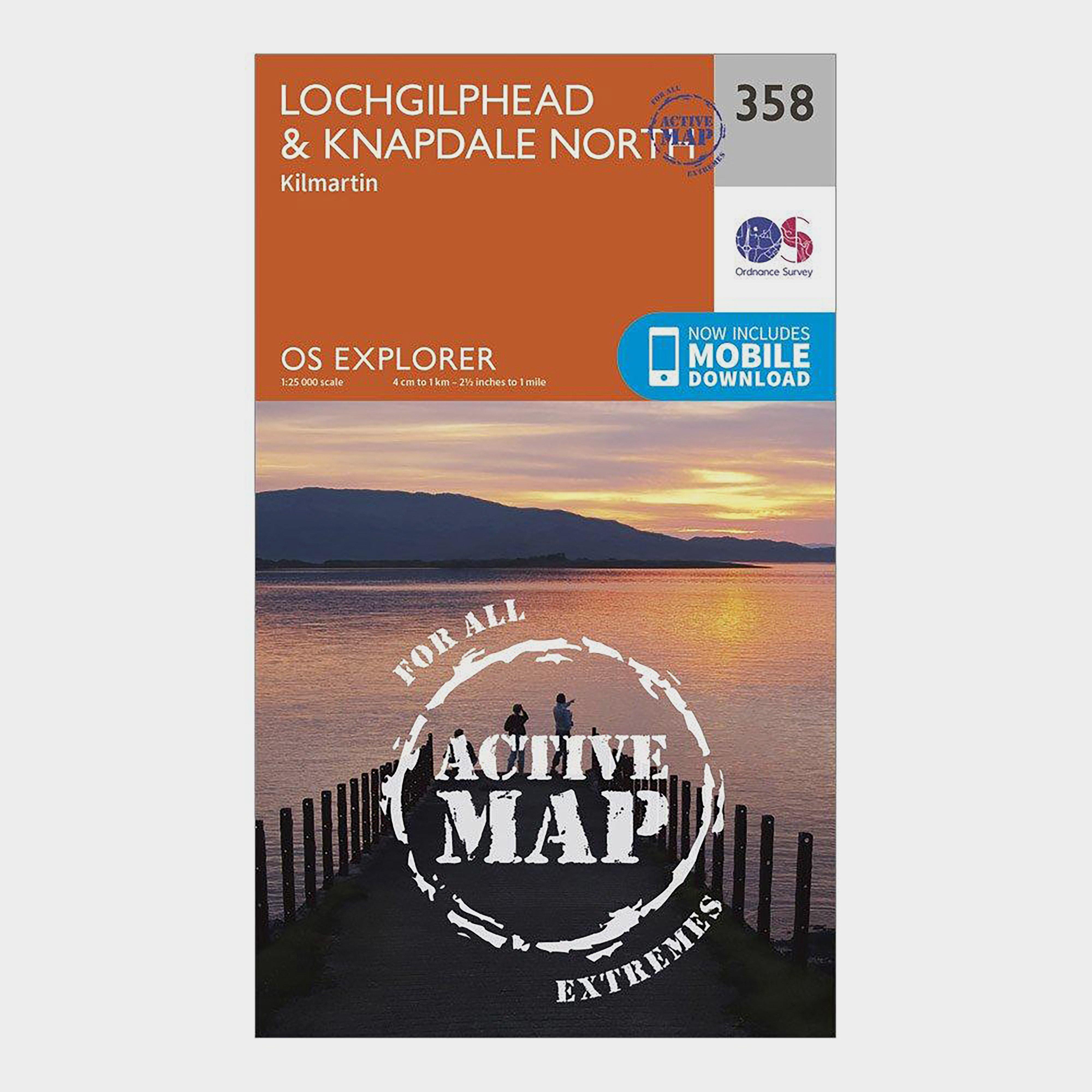 Ordnance Survey Explorer Active 358 LochgilpheadandKnapdale North Map With Digital Version - Orange/d  Orange/d