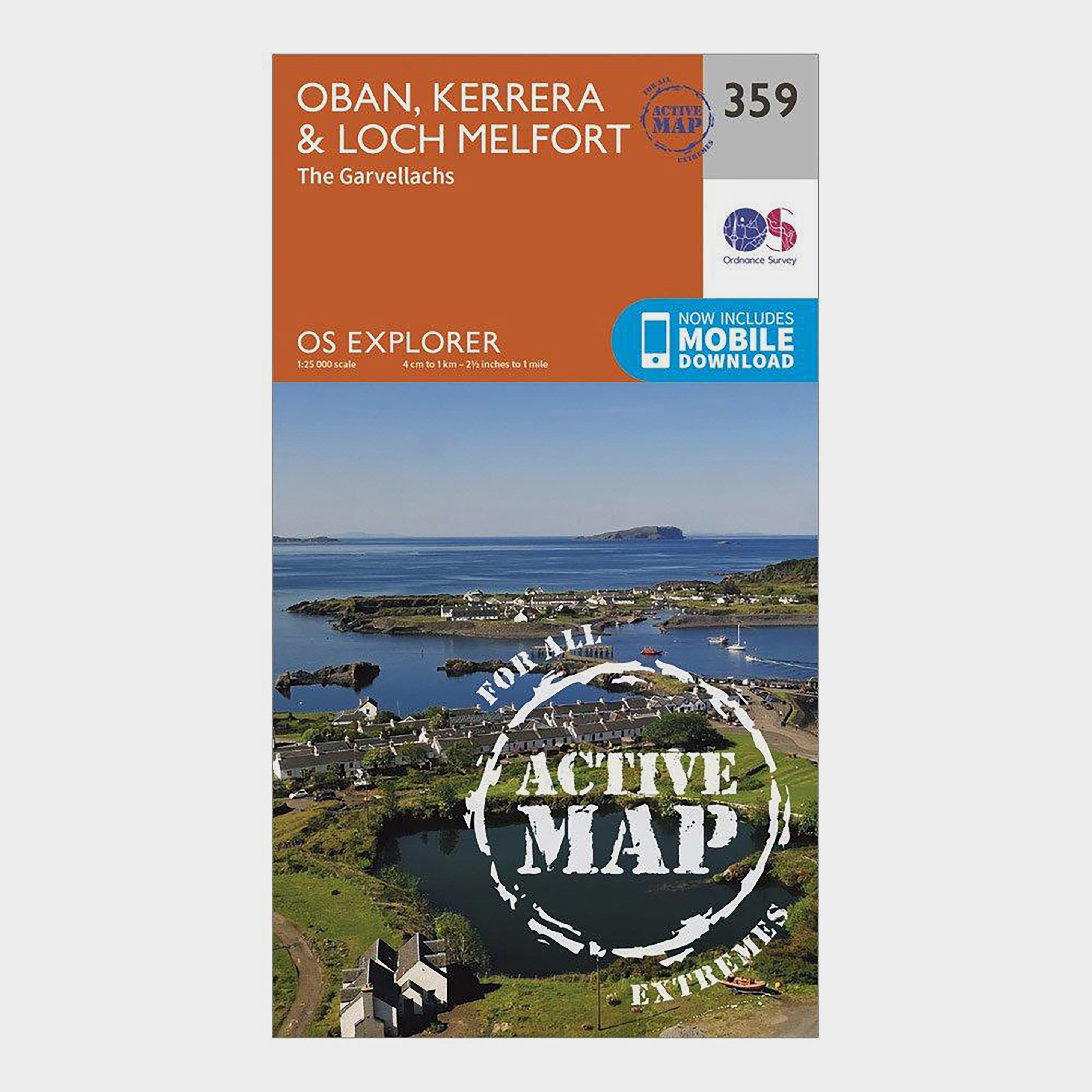 Ordnance Survey Explorer Active 359 Oban, Kerrera & Loch Melfort Map With Digital Version - Orange/D, Orange/D