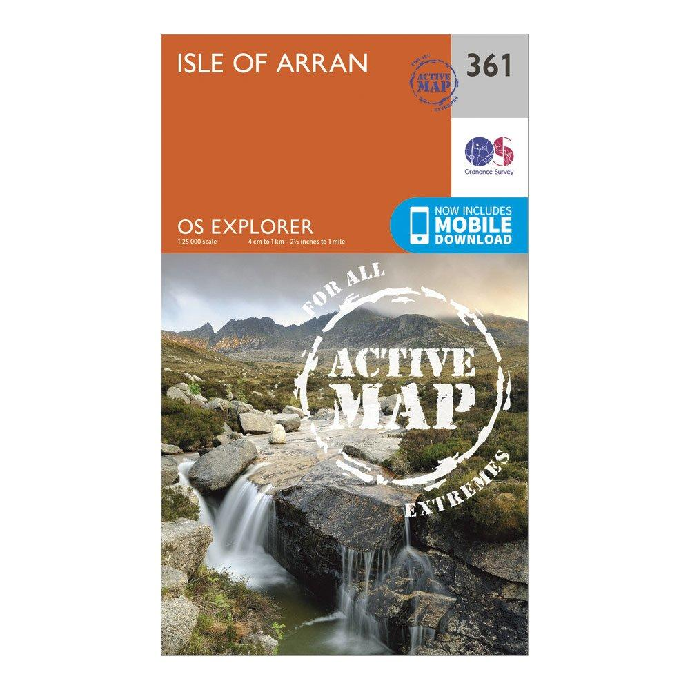 Ordnance Survey Explorer Active 361 Isle Of Arran Map With Digital Version - Orange/d  Orange/d