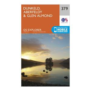 ORDNANCE SURVEY Explorer 379 Dunkeld, Aberfeldy & Glen Almond Map With Digital Version