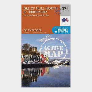 ORDNANCE SURVEY Explorer Active 374 Isle of Mull North & Tobermory Map With Digital Version