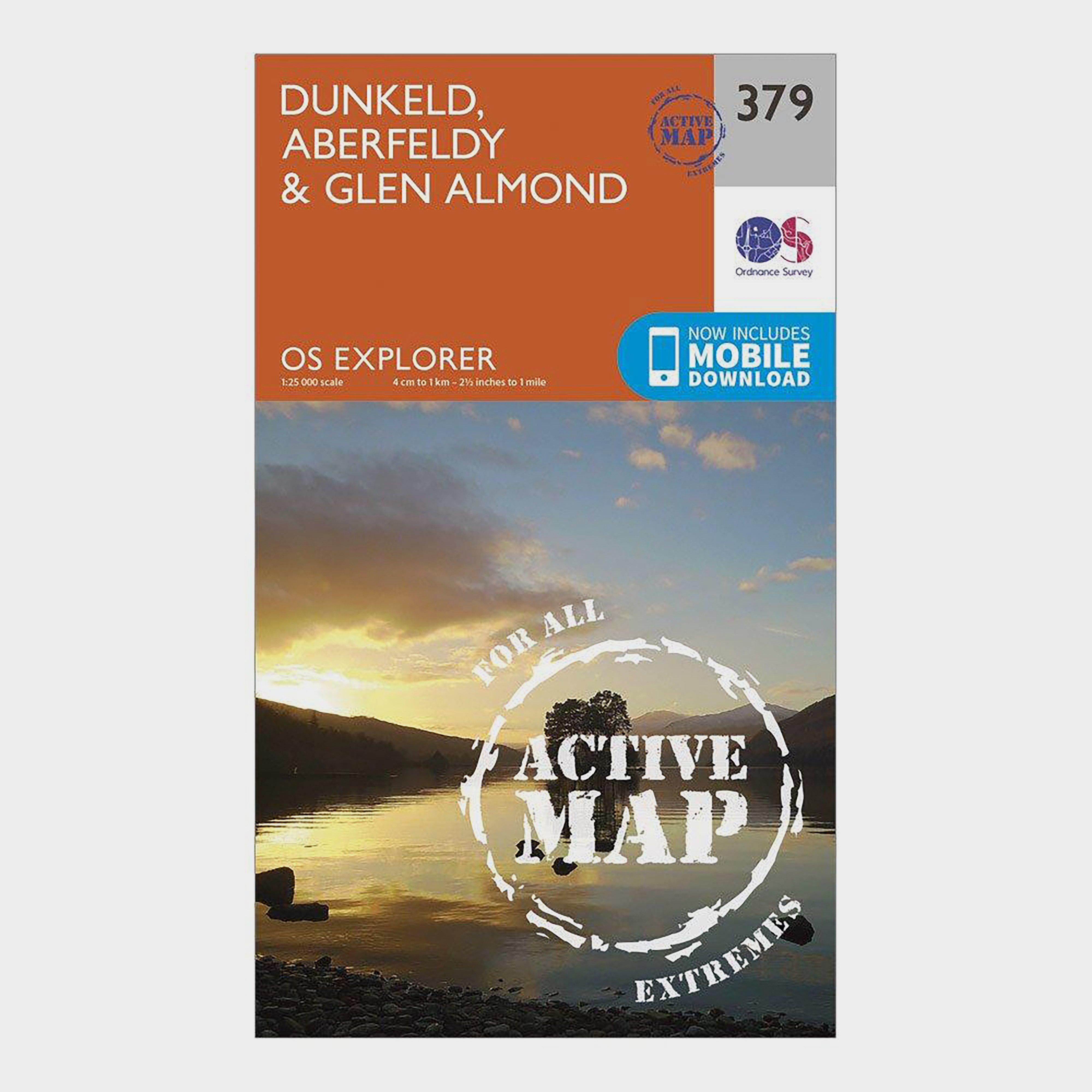 Ordnance Survey Explorer Active 379 Dunkfeld  AberfeldyandGlen Almond Map With Digital Version - Orange/d  Orange/d