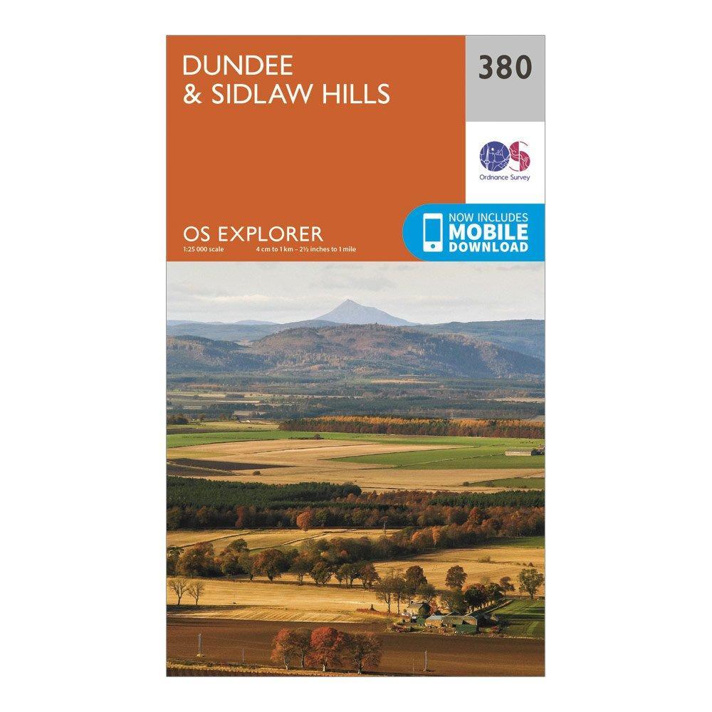 Ordnance Survey Explorer 380 DundeeandSidlaw Hills Map With Digital Version - Orange/d  Orange/d