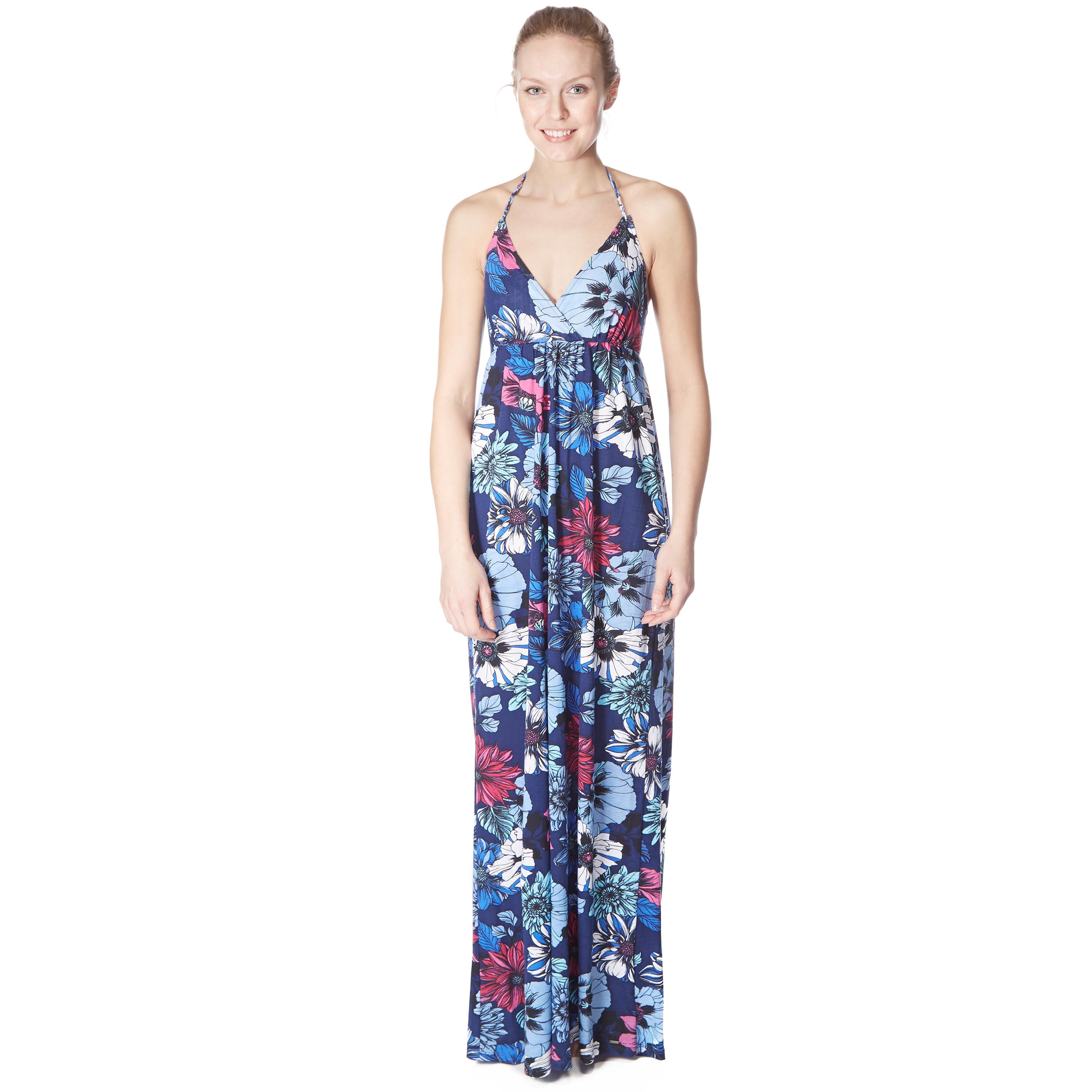 Animal Womens Lonali Maxi Dress Blue