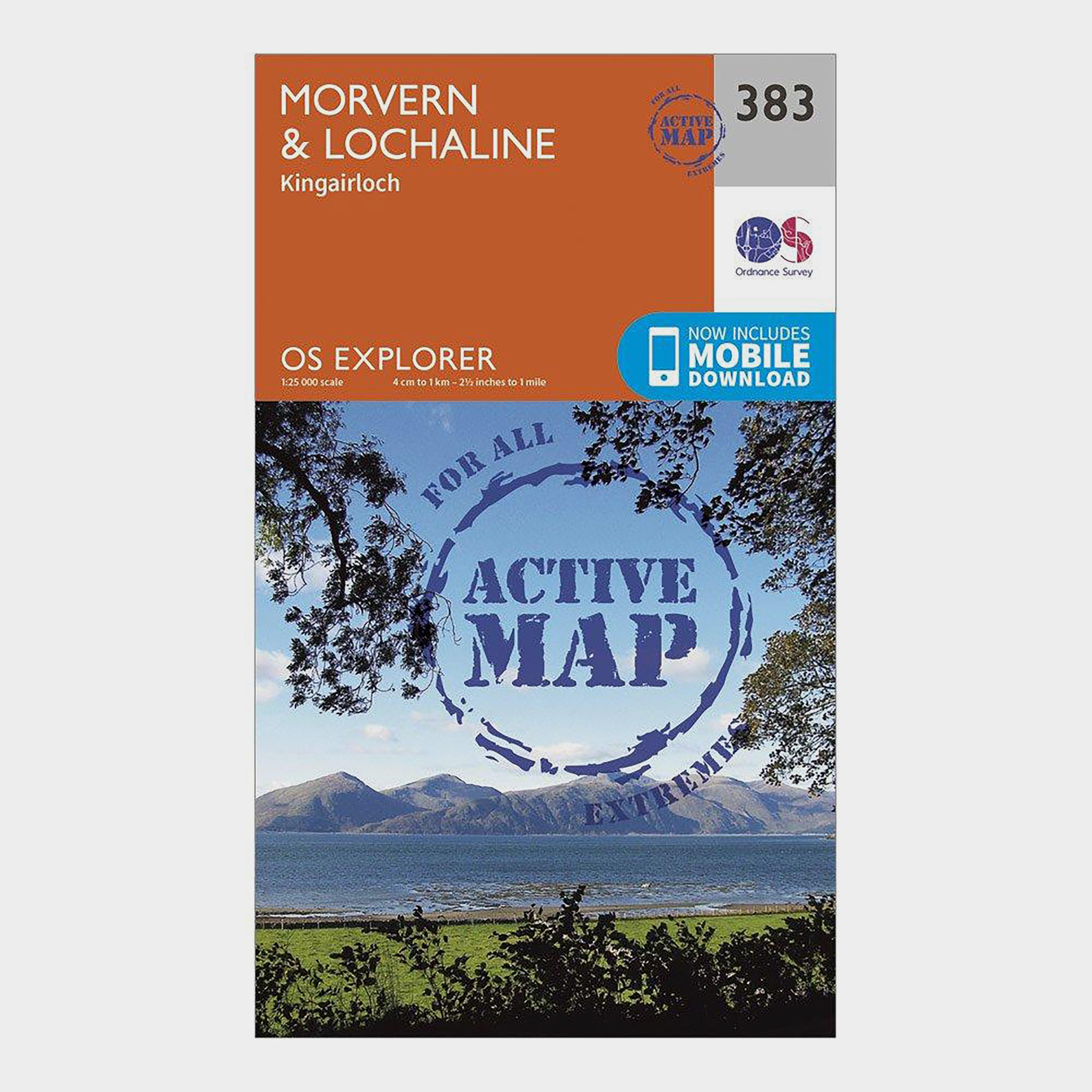 Ordnance Survey Explorer Active 383 MorvernandLochaline Map With Digital Version - Orange/d  Orange/d