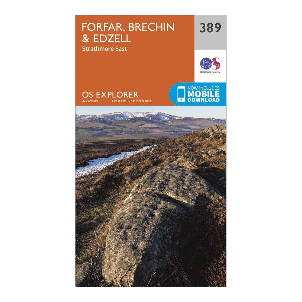 Ordnance Survey Explorer 389 Forfar  BrechinandEdzell Map With Digital Version - Orange/d  Orange/d
