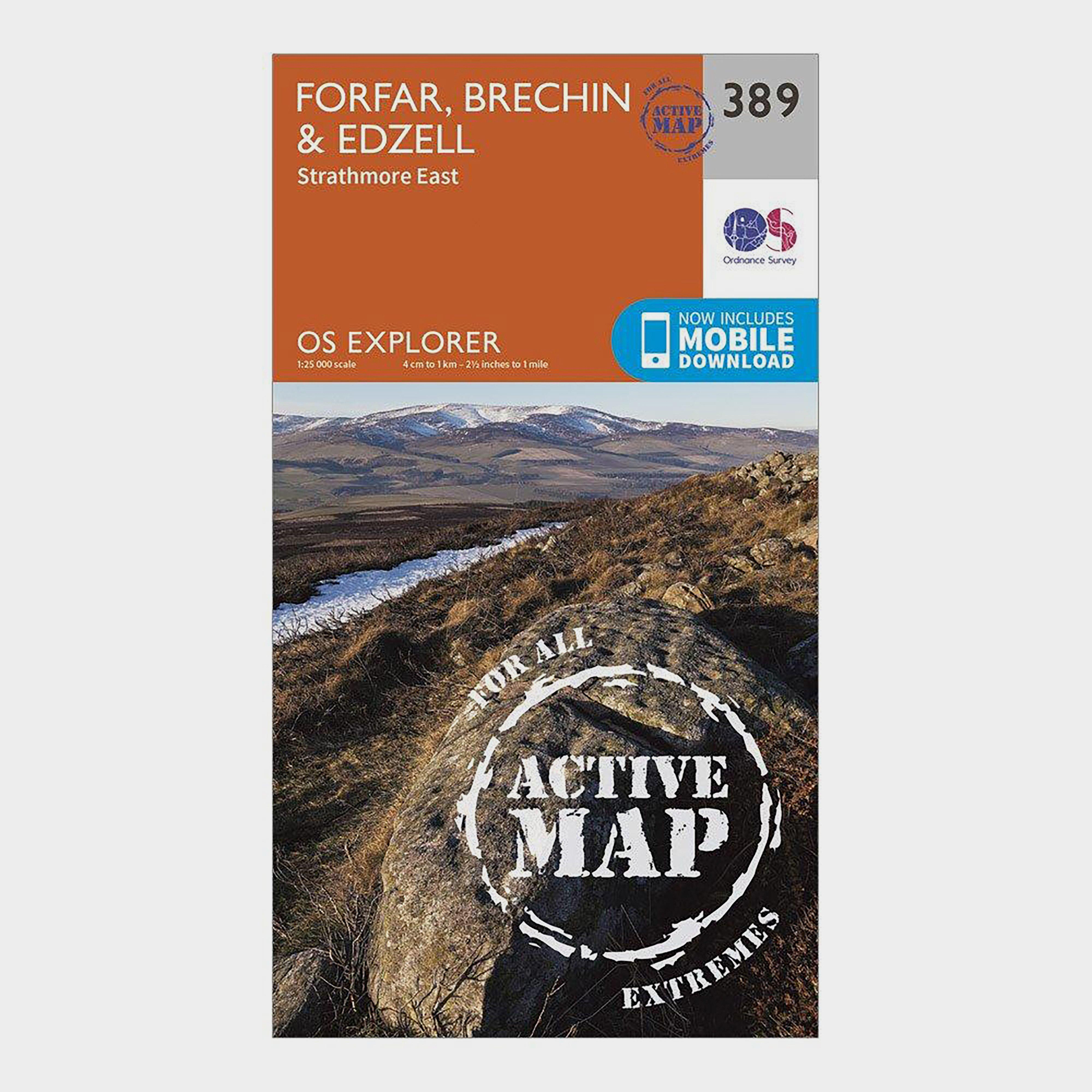Ordnance Survey Explorer Active 389 Forfar  BrechinandEdzell Map With Digital Version - Orange/d  Orange/d