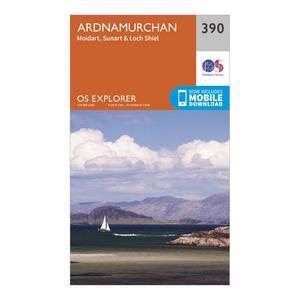 ORDNANCE SURVEY Explorer 390 Ardnamurchan Map With Digital Version