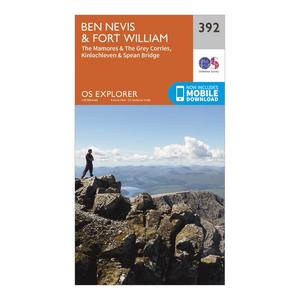 ORDNANCE SURVEY Explorer 392 Ben Nevis Map With Digital Version