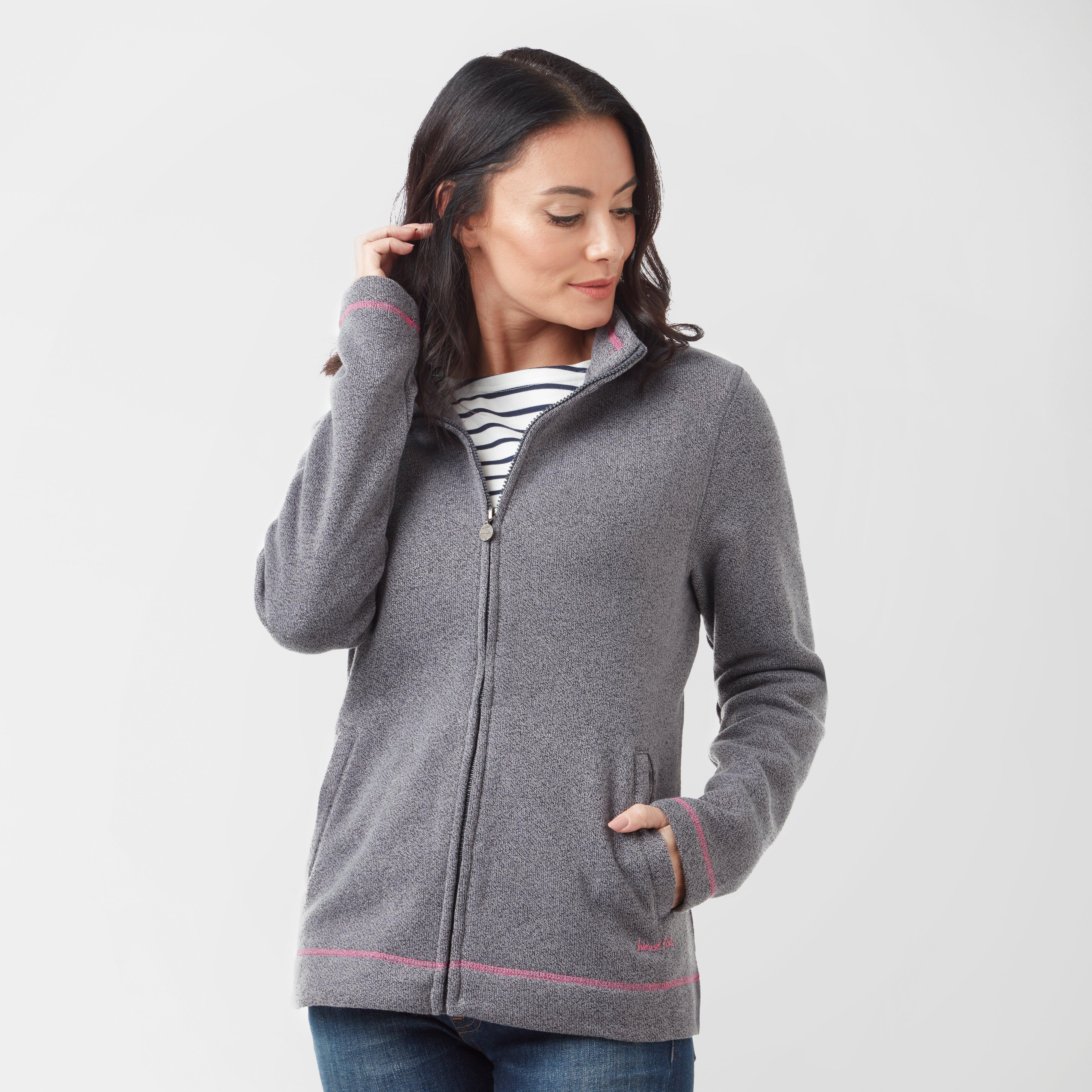 Weird Fish Women's Grange Full-Zip Fleece, Grey