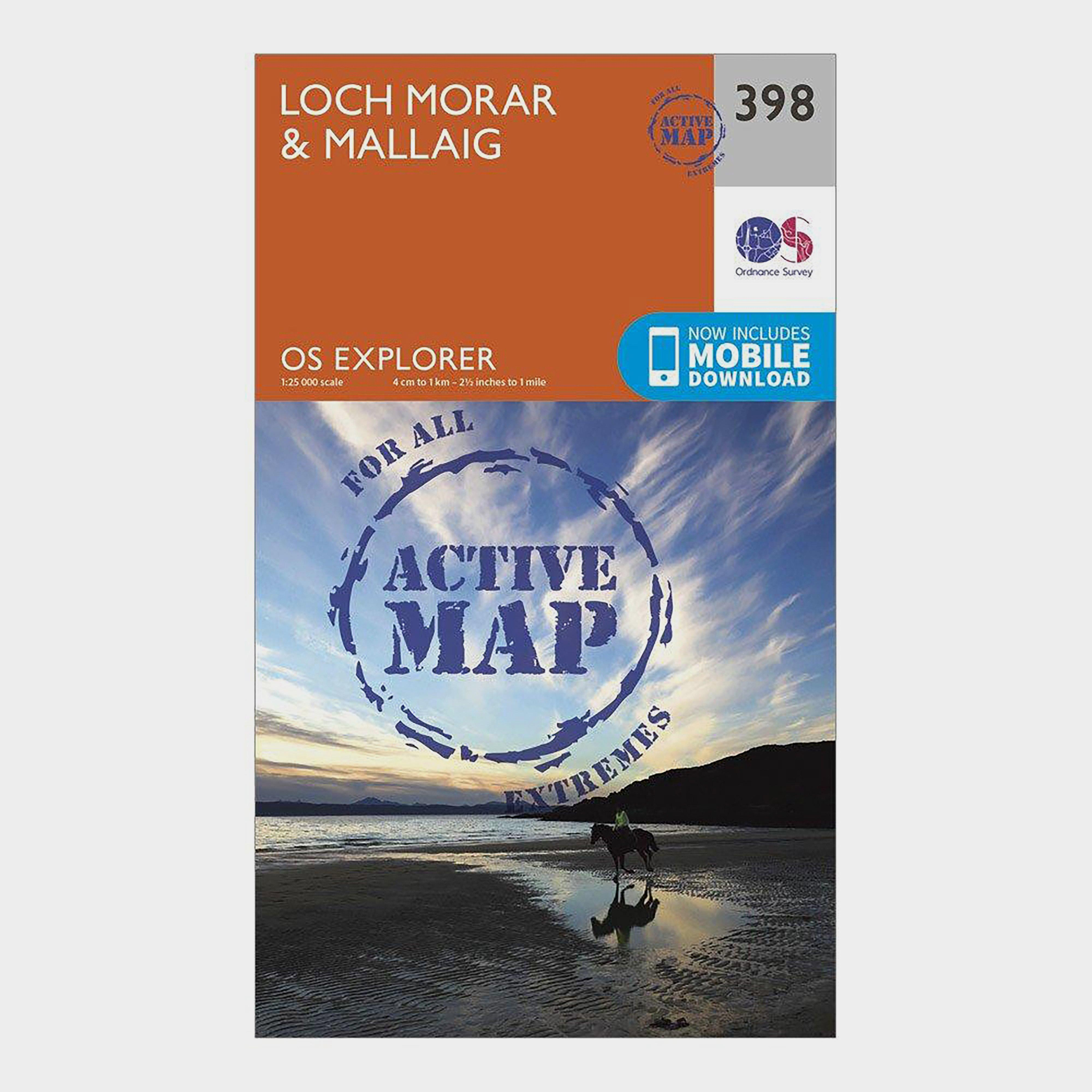 Ordnance Survey Explorer Active 398 Loch MorarandMallaig Map With Digital Version - Orange/d  Orange/d