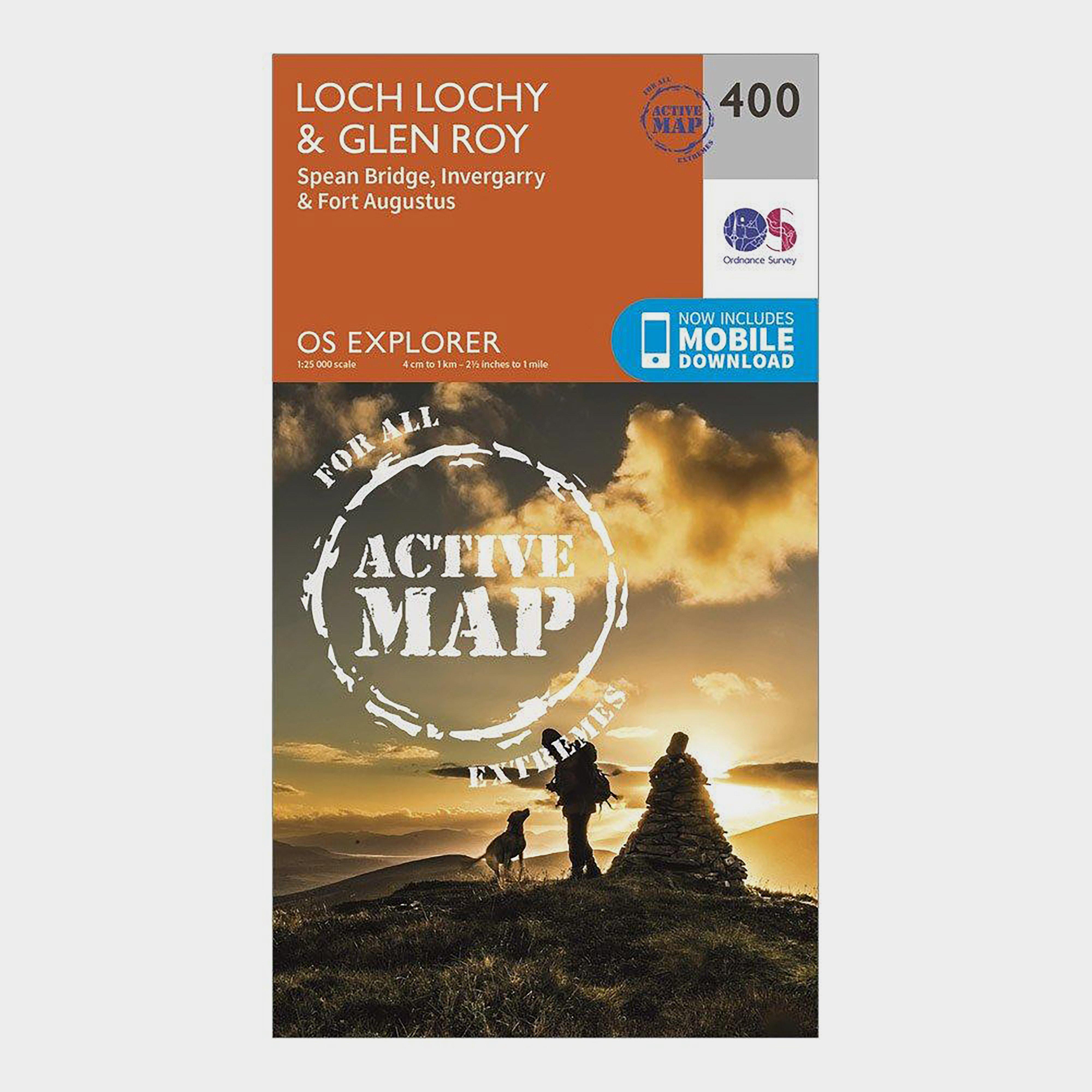 Ordnance Survey Explorer Active 400 Loch LochyandGlen Roy Map With Digital Version - Orange/d  Orange/d