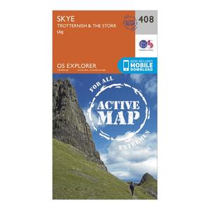 ORDNANCE SURVEY Explorer Active 408 Skye – Trotternish & The Storr Map With Digital Version