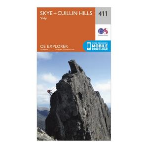 ORDNANCE SURVEY Explorer 411 Skye - Cuillin Hills Map With Digital Version