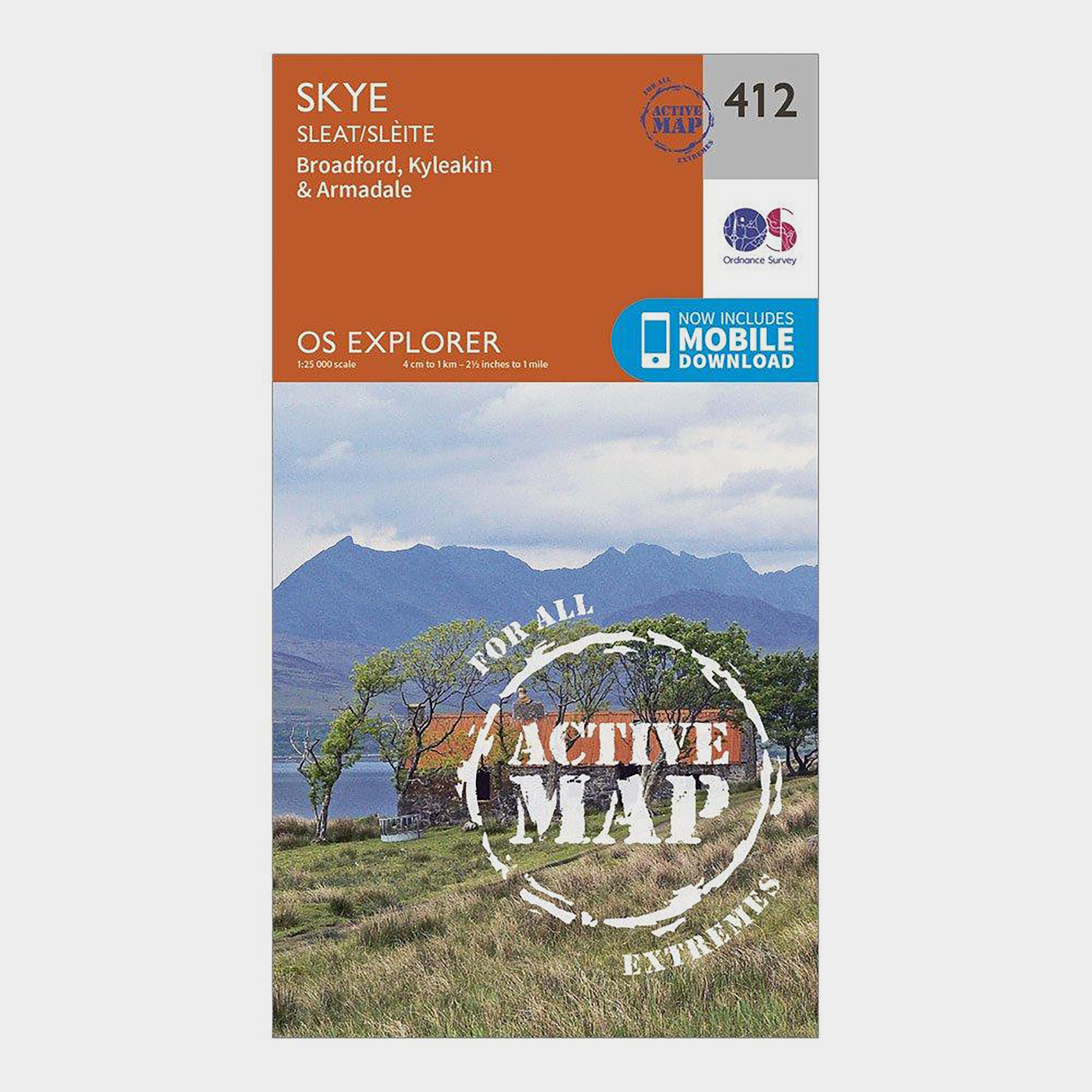 Ordnance Survey Explorer Active 412 Skye - Sleat Map With Digital Version - Orange/d  Orange/d