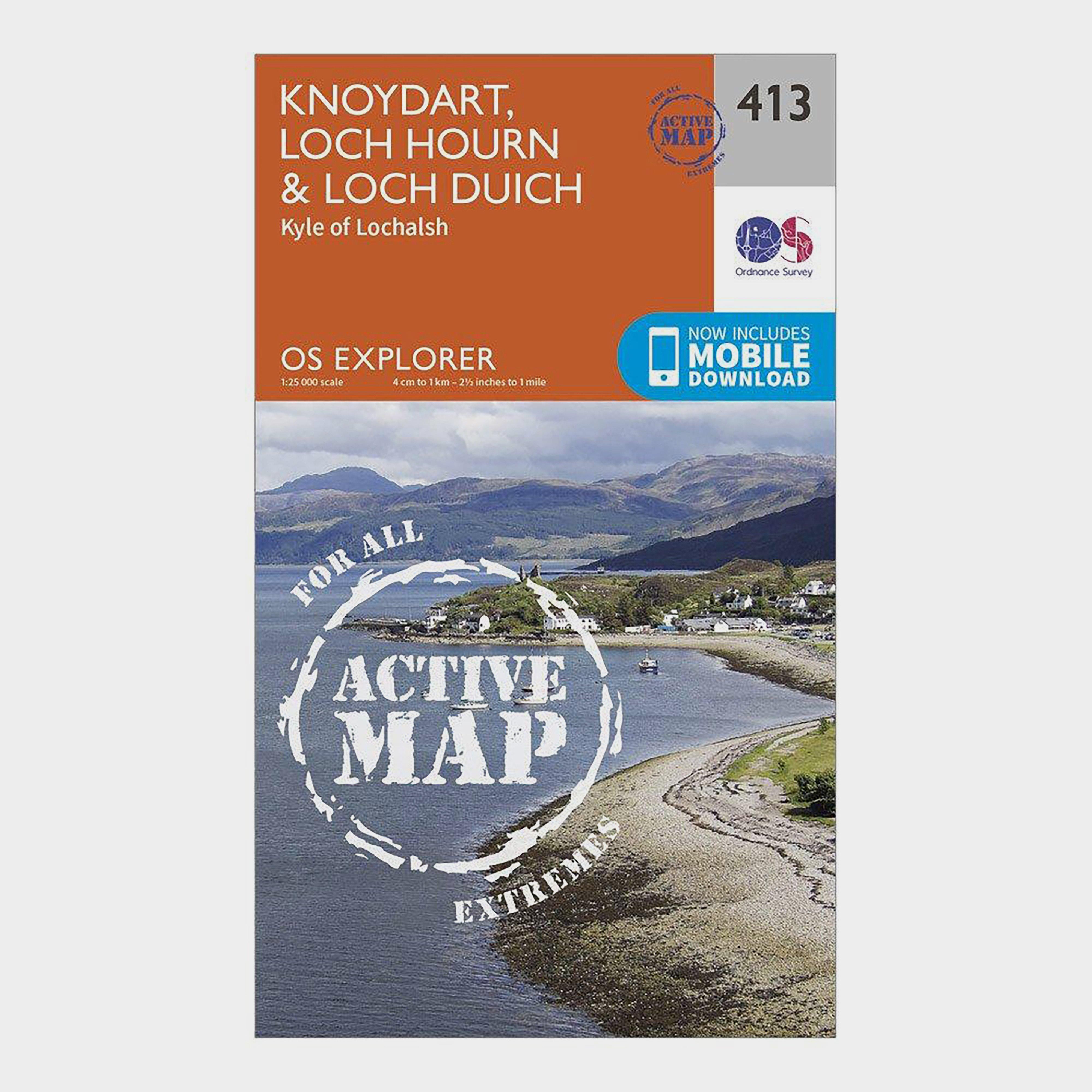 Ordnance Survey Explorer Active 413 Knoydart  Loch HournandLoch Duich Map With Digital Version - Orange/d  Orange/d