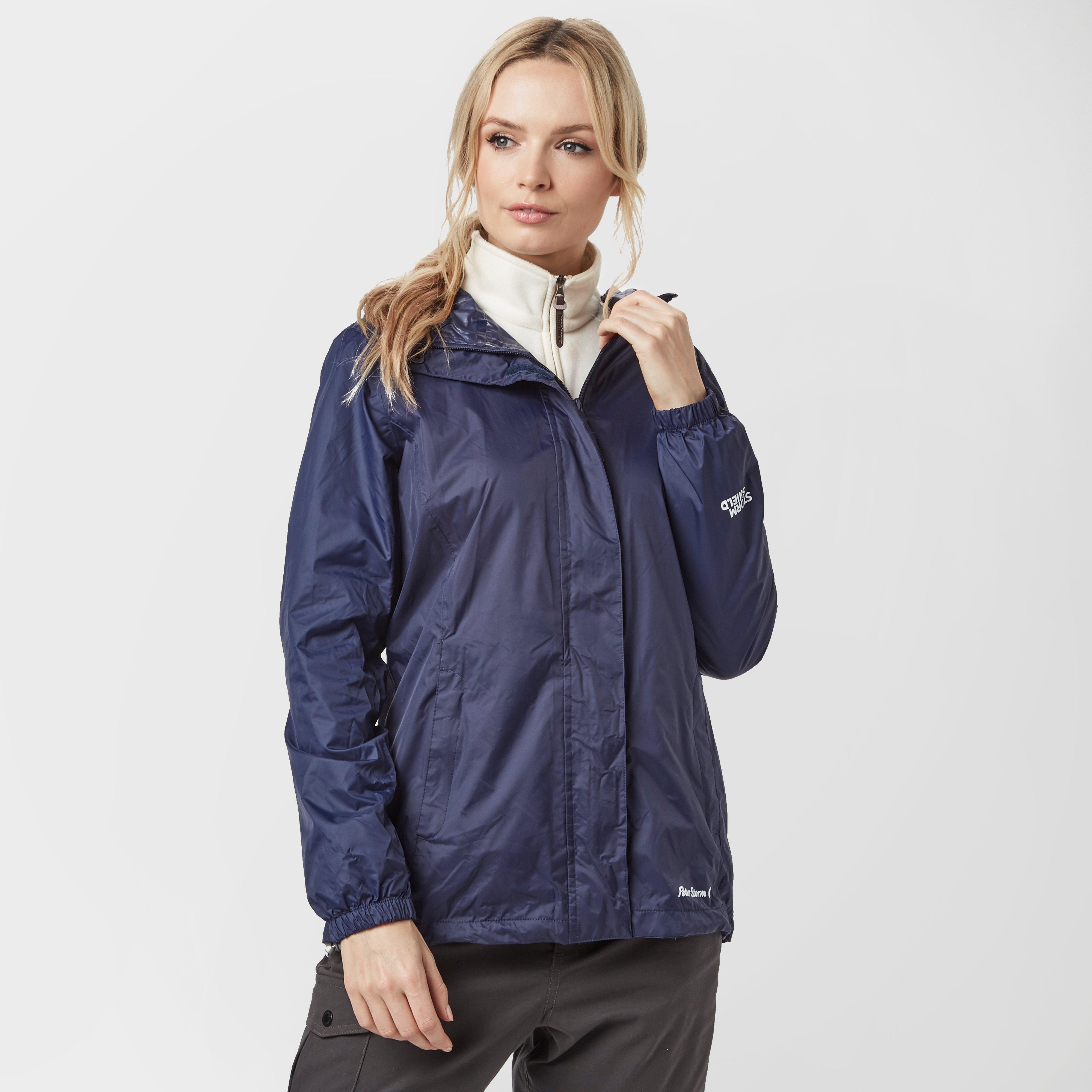 Peter Storm Women's Packable Hooded Jacket, Navy