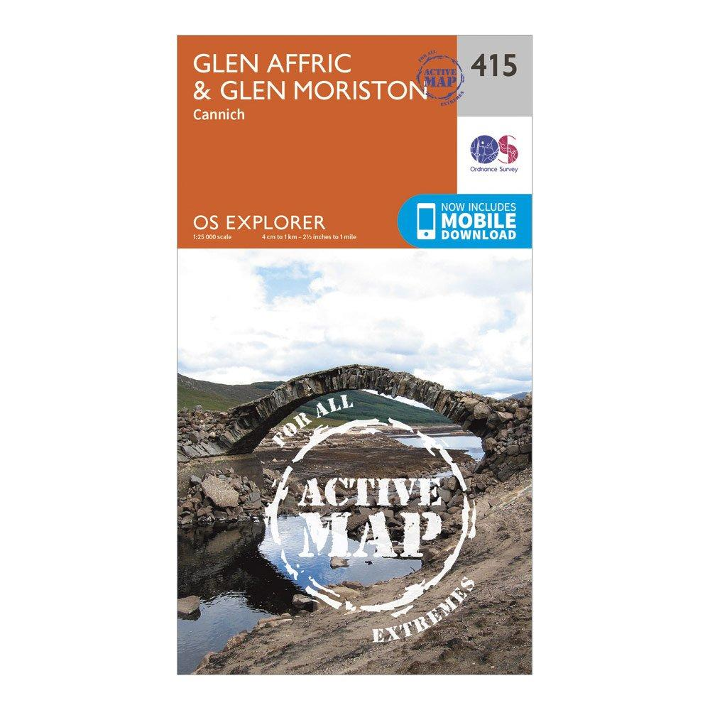 Ordnance Survey Explorer Active 415 Glen AffricandGlen Moriston Map With Digital Version - Orange/d  Orange/d