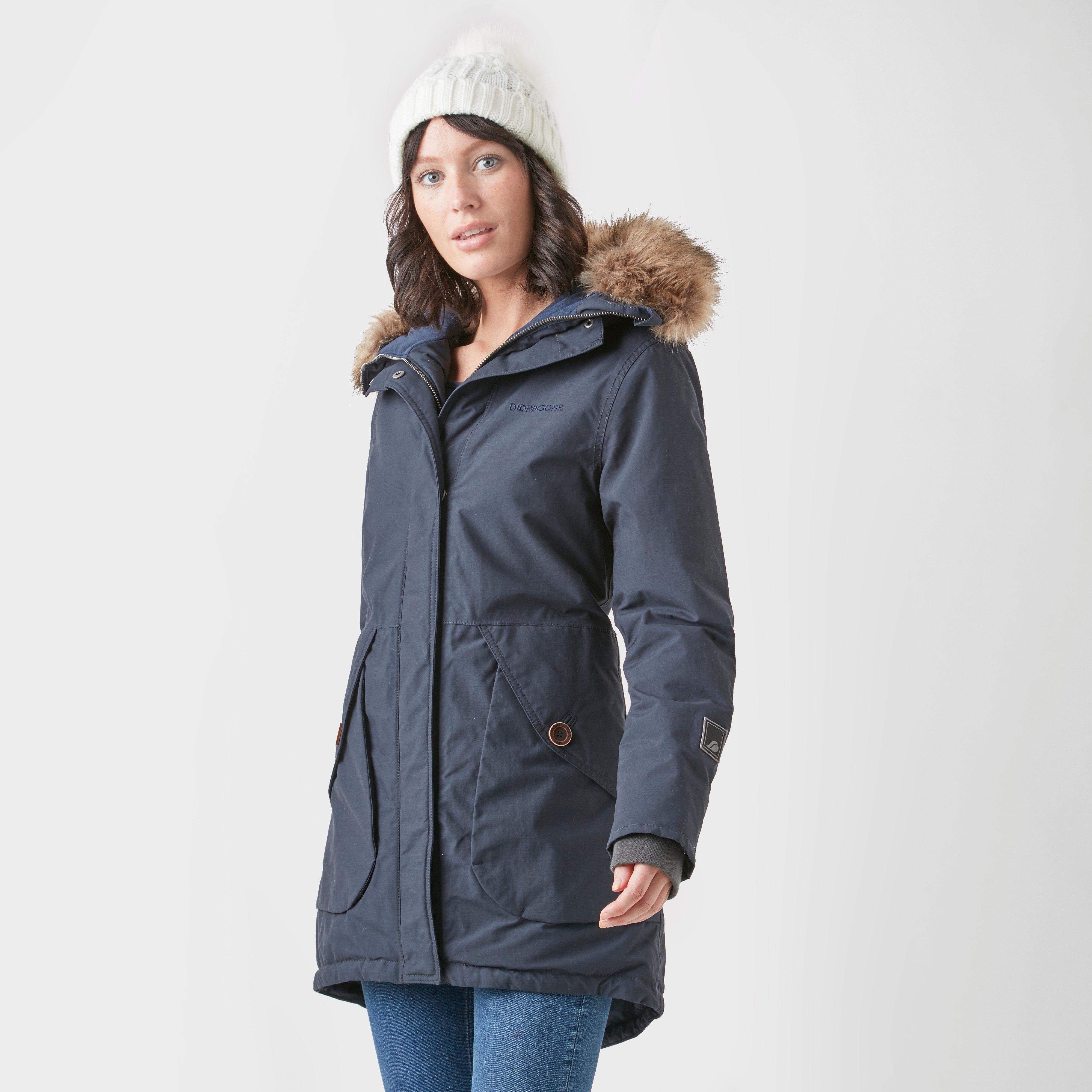 Didriksons Women's Angelina 2 Parka, Navy