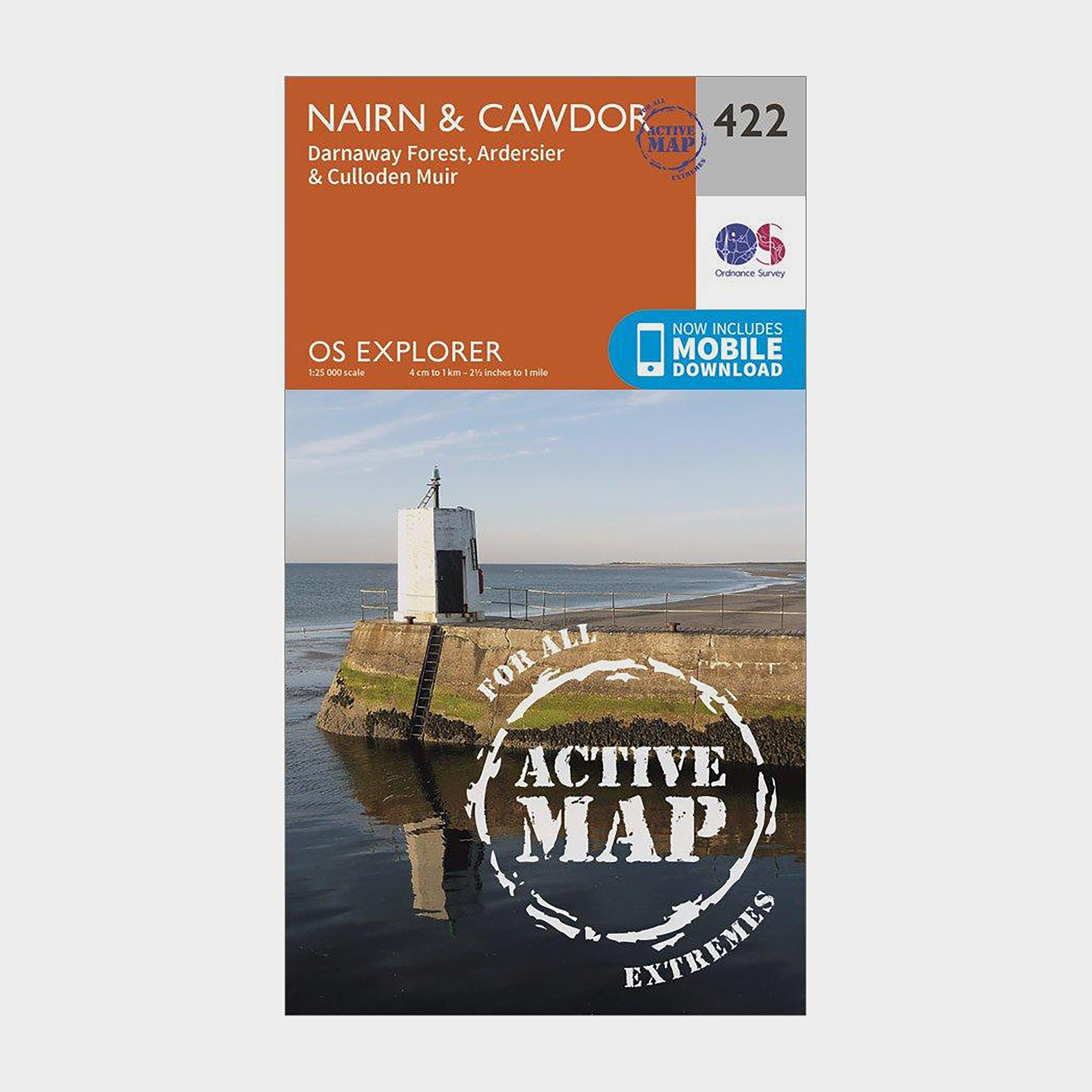 Ordnance Survey Explorer Active 422 NairnandCawdor Map With Digital Version - Orange/d  Orange/d