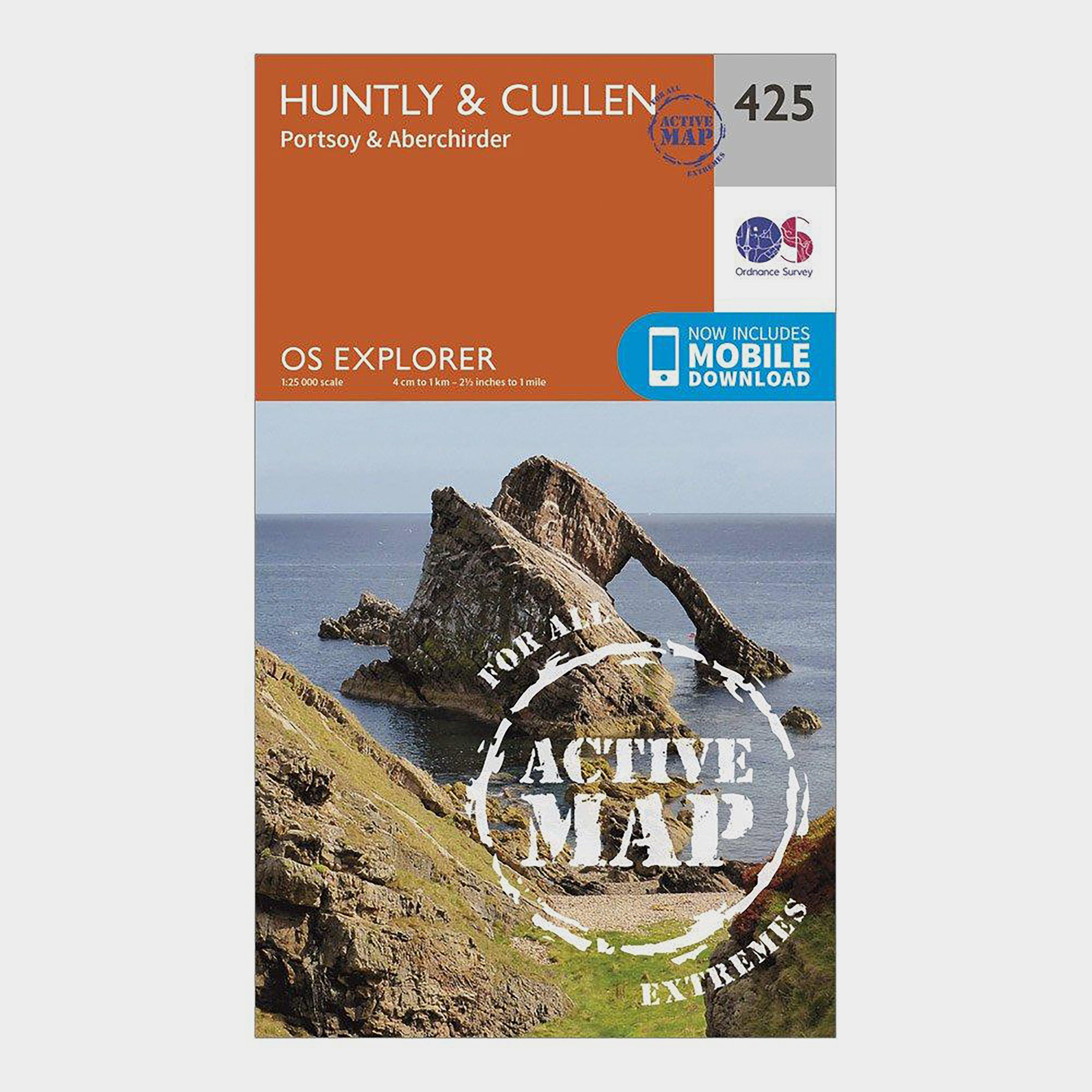 Ordnance Survey Explorer Active 425 HuntlyandCullen Map With Digital Version - Orange/d  Orange/d