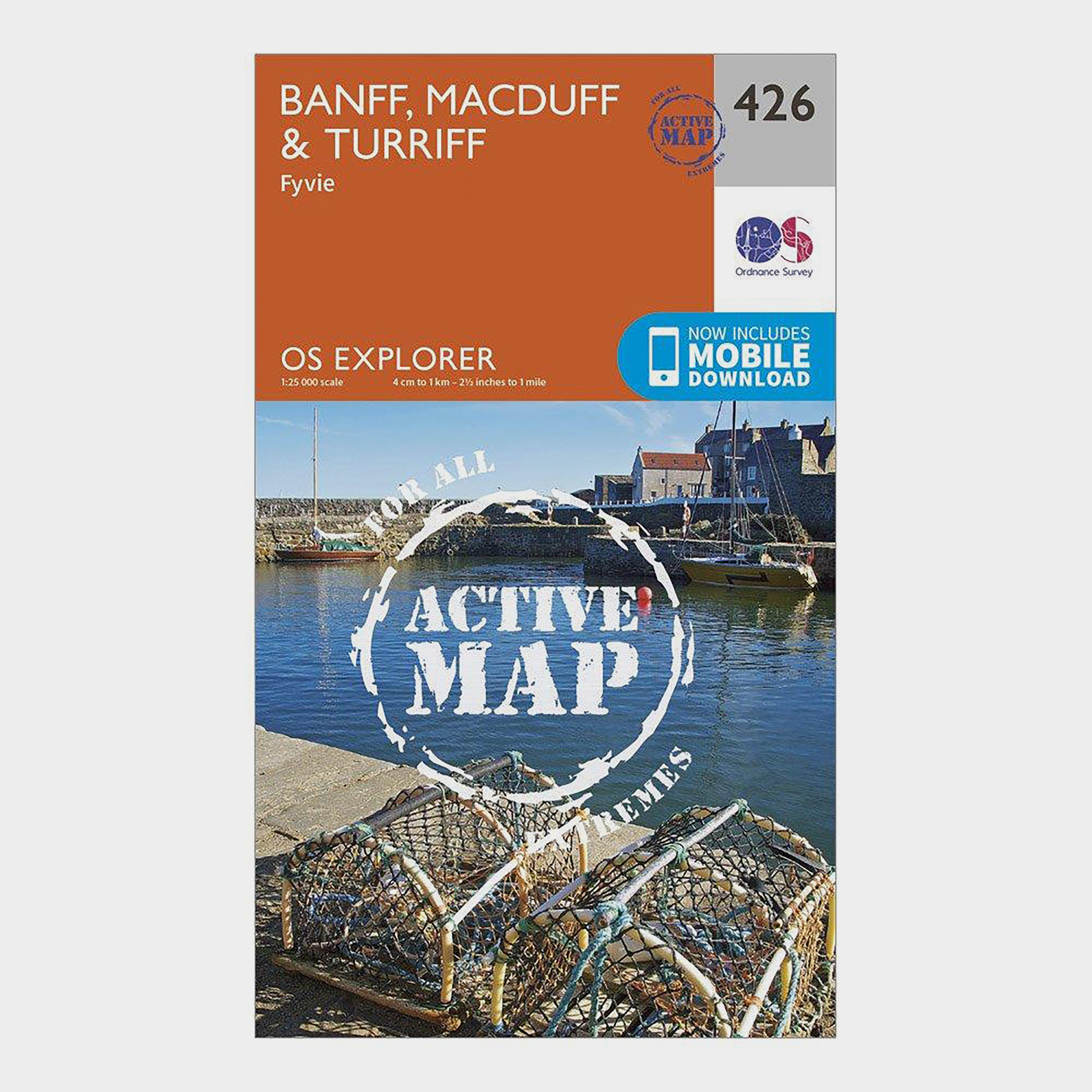 Ordnance Survey Explorer Active 426 Banff  MacduffandTurriff Map With Digital Version - Orange/d  Orange/d