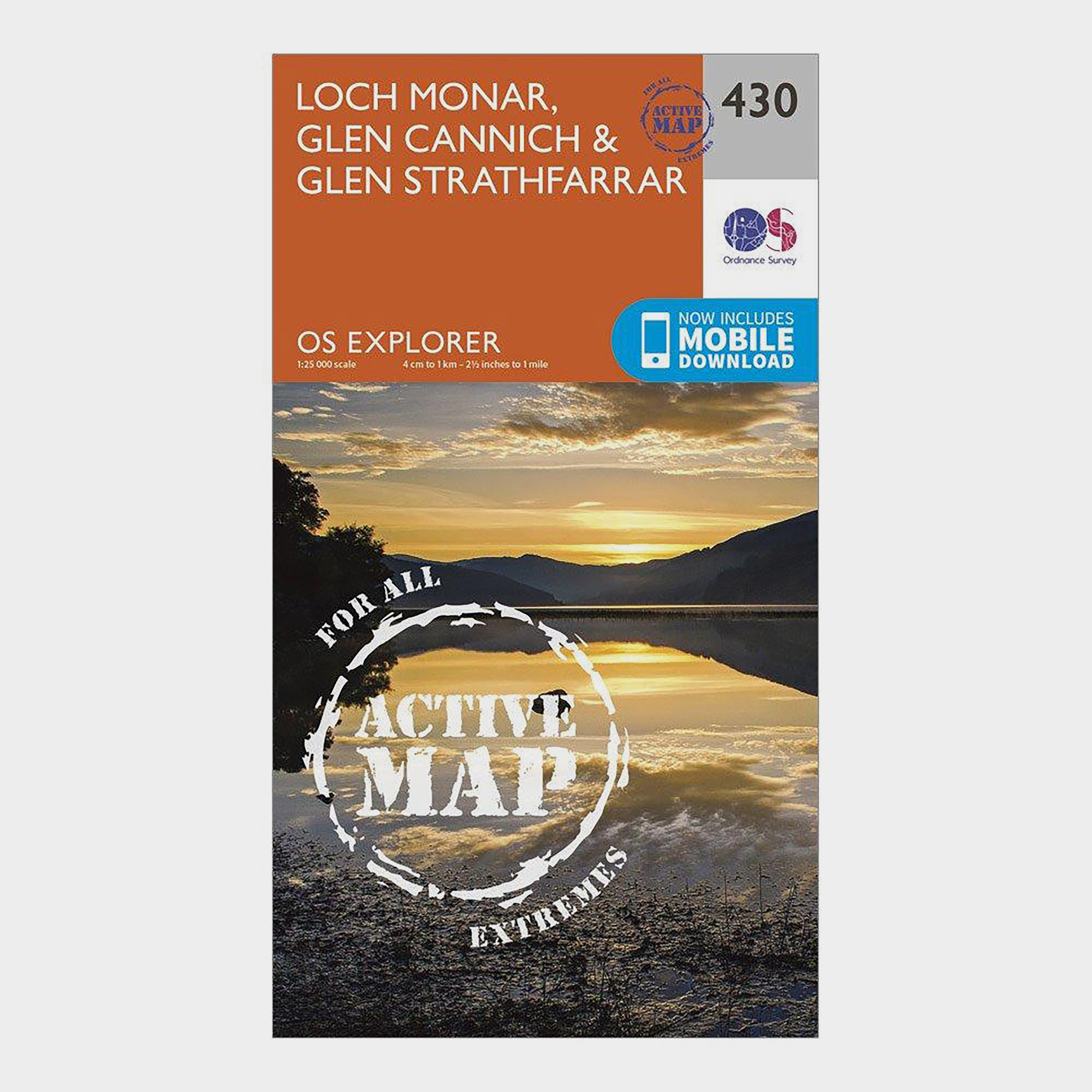 Ordnance Survey Explorer Active 430 Loch Monar  Glen CannichandGlen Strathfarrar Map With Digital Version - Orange/d  Orange/d