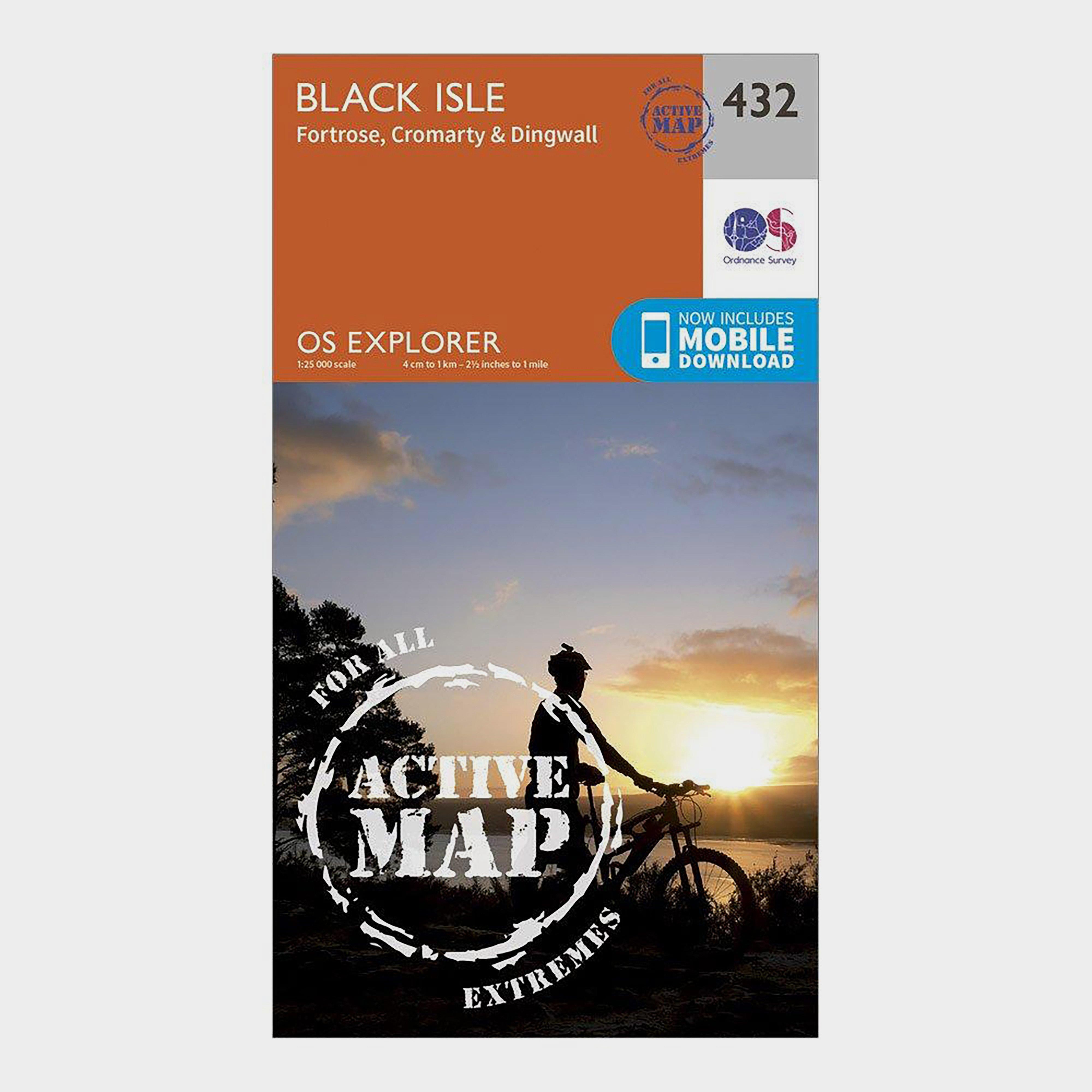 Ordnance Survey Explorer Active 432 Black Isle Map With Digital Version - Orange/d  Orange/d