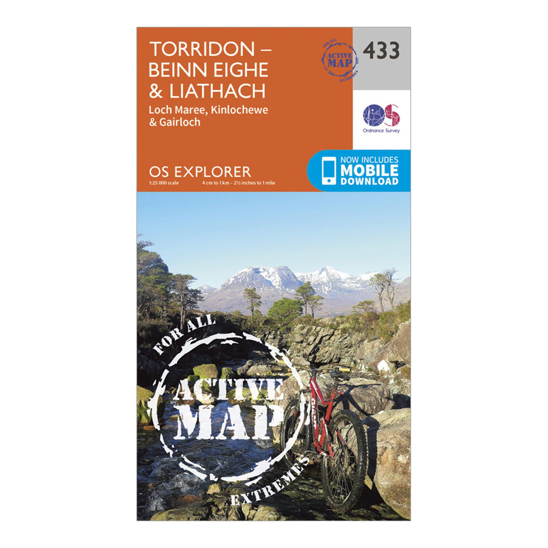Ordnance Survey Explorer Active 433 Torridon - Beinn EigheandLiathach Map With Digital Version - Orange/d  Orange/d