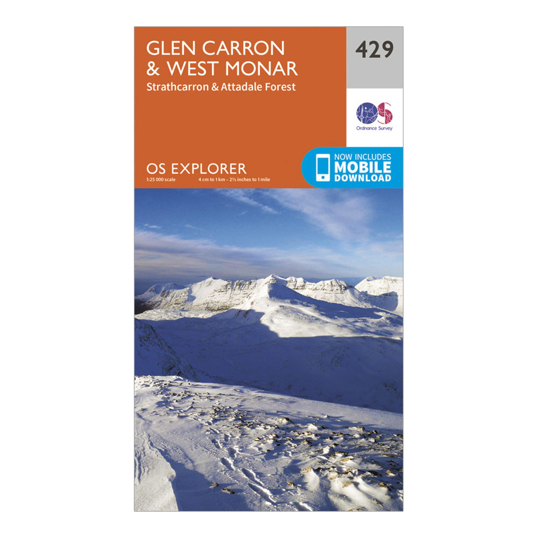 Ordnance Survey Explorer 429 Glen CarronandWest Monar Map With Digital Version - Orange/d  Orange/d