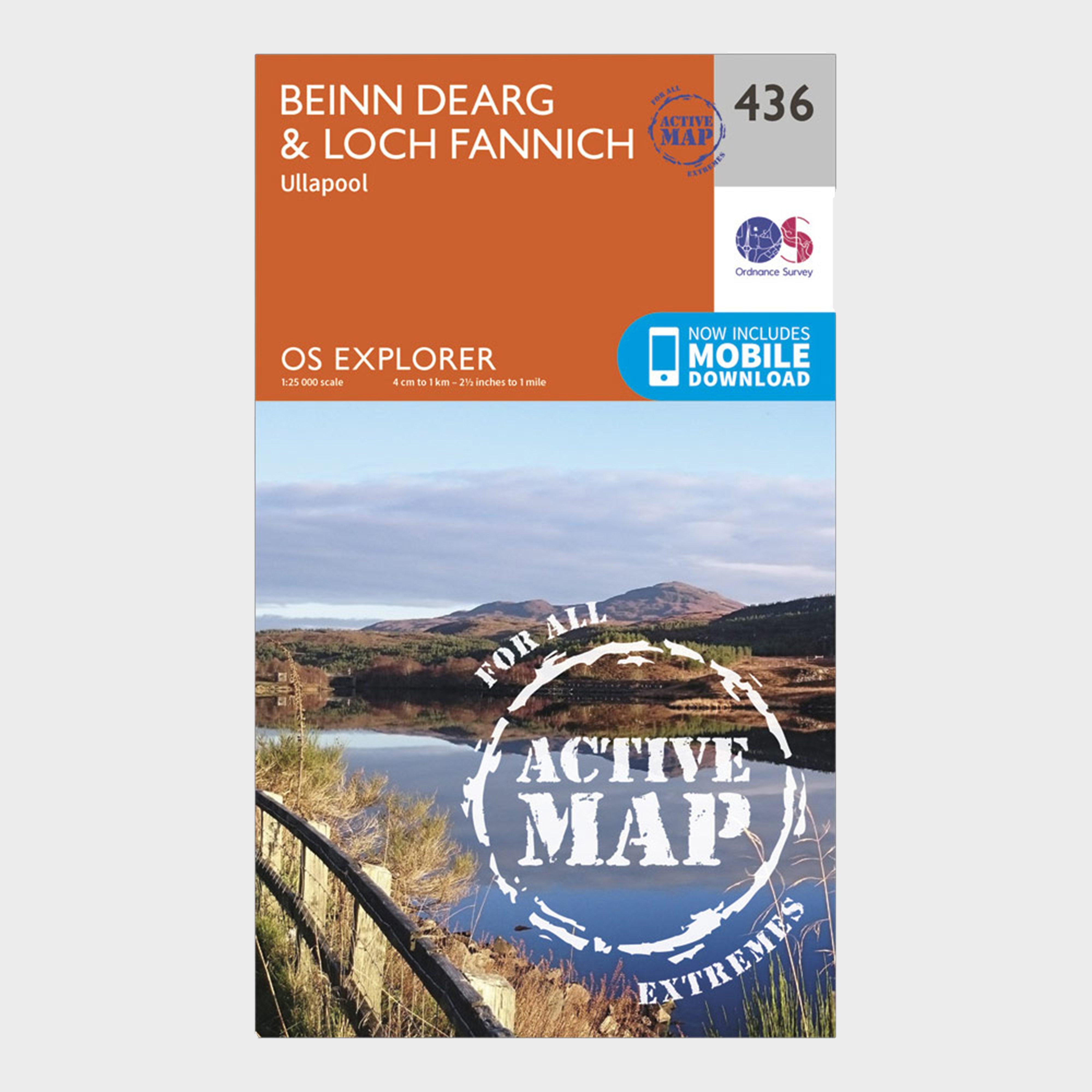 Ordnance Survey Explorer Active 436 Beinn DeargandLoch Fannich Map With Digital Version - Orange/d  Orange/d