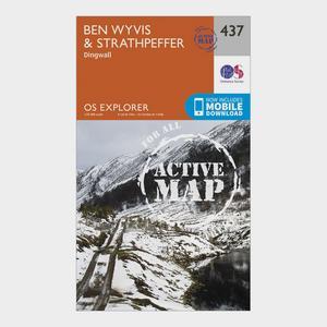 ORDNANCE SURVEY Explorer Active 437 Ben Wyvis & Strathpeffer Map With Digital Version