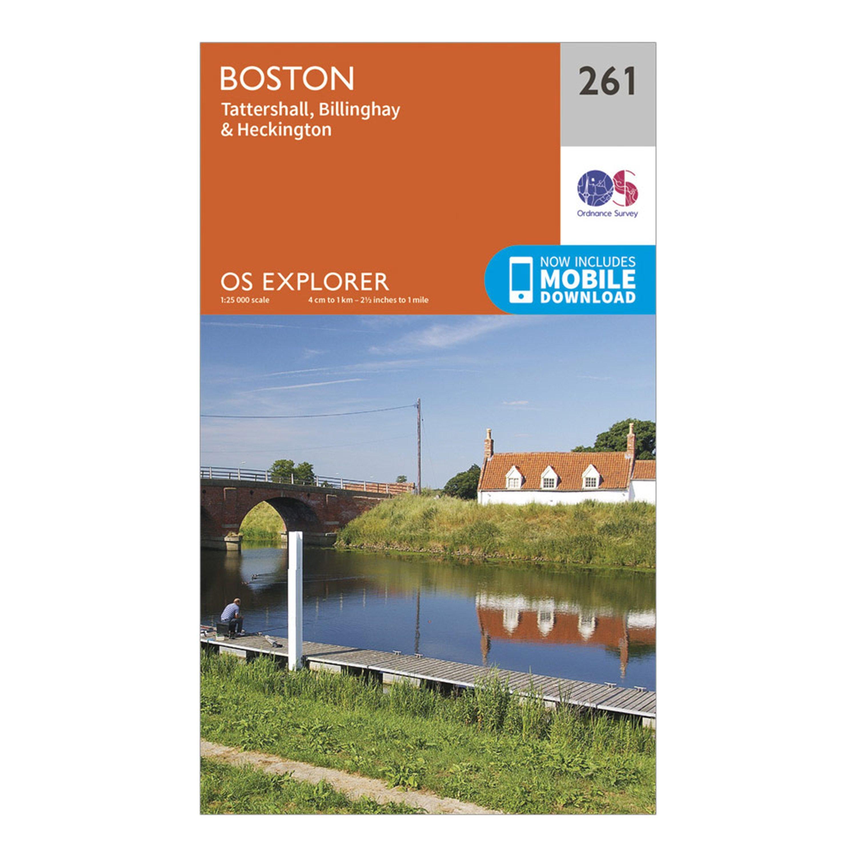 Ordnance Survey Explorer 261 Boston Map With Digital Version - Orange/d  Orange/d